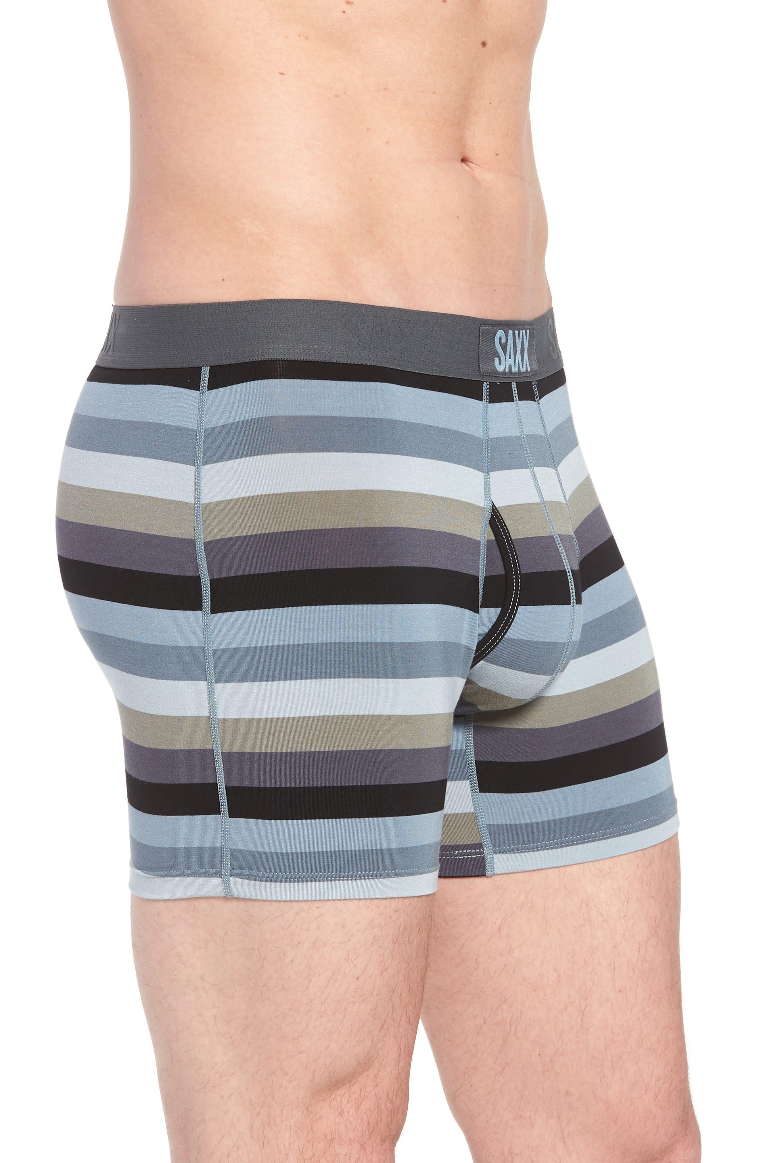 Stripe Boxer Brief,                             Alternate thumbnail 3, color,                             Dark Charcoal Stripe