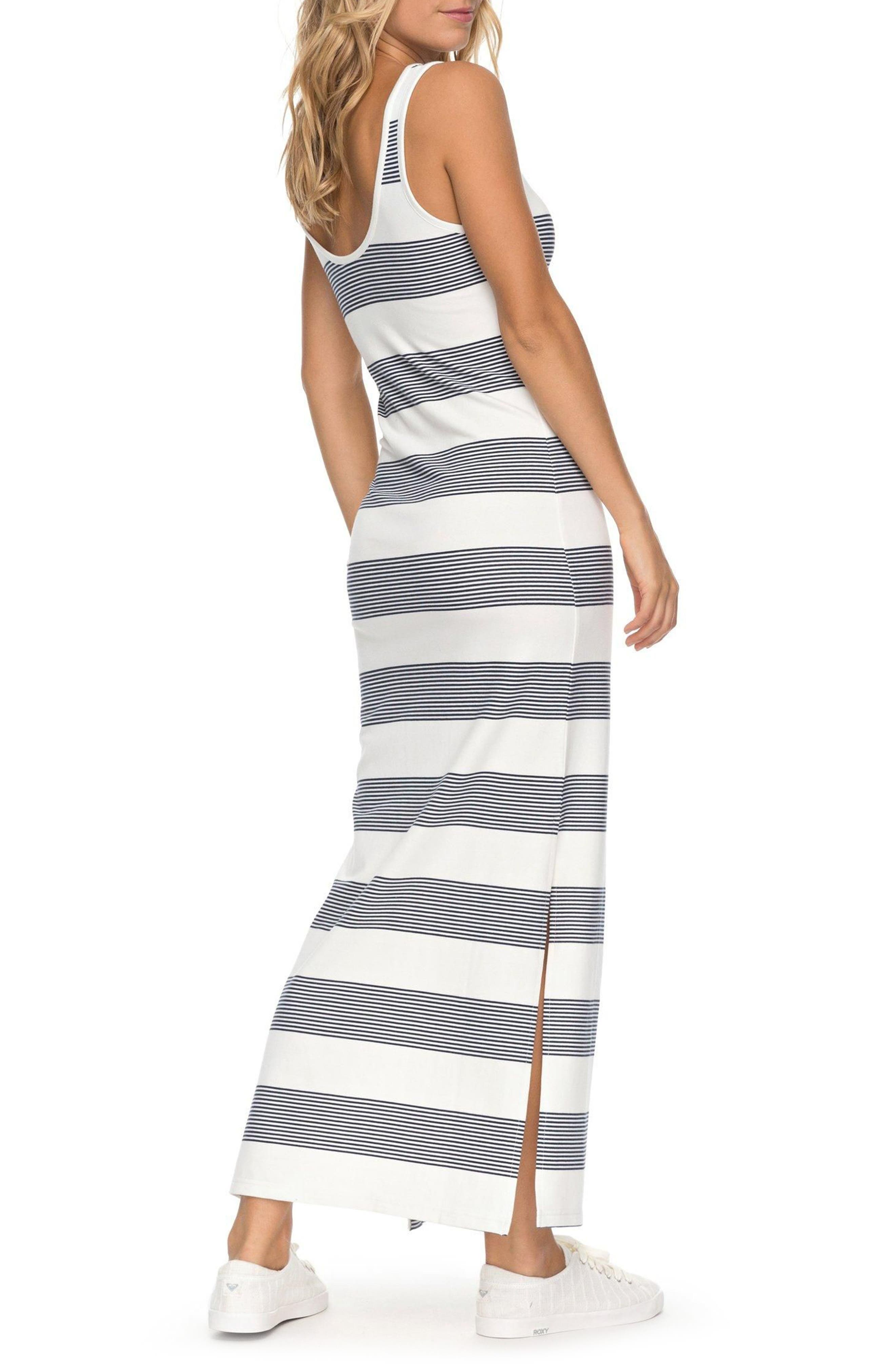 Tuba Stripe Tank Dress,                             Alternate thumbnail 2, color,                             Marshmallow Dress Blue Docker