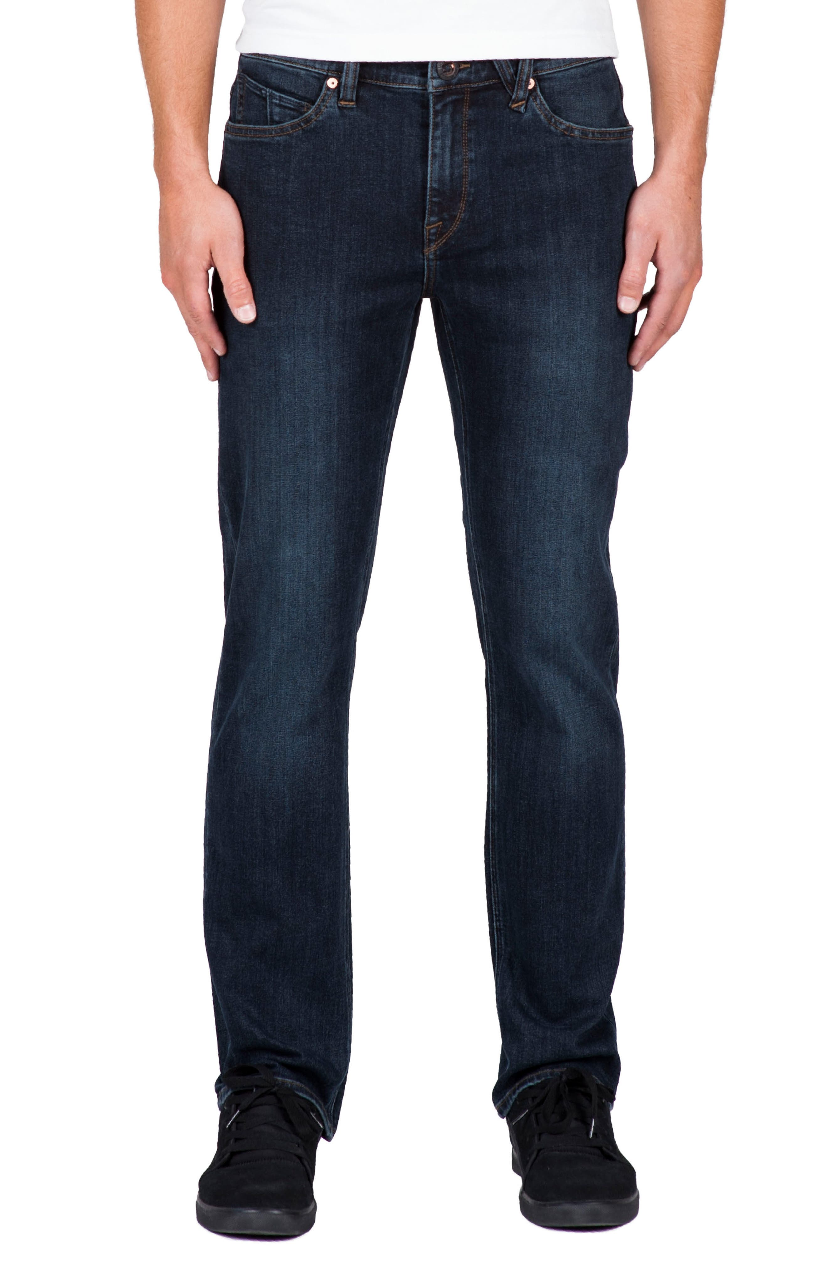 'Solver' Straight Leg Jeans,                             Main thumbnail 1, color,                             Blue Vnt