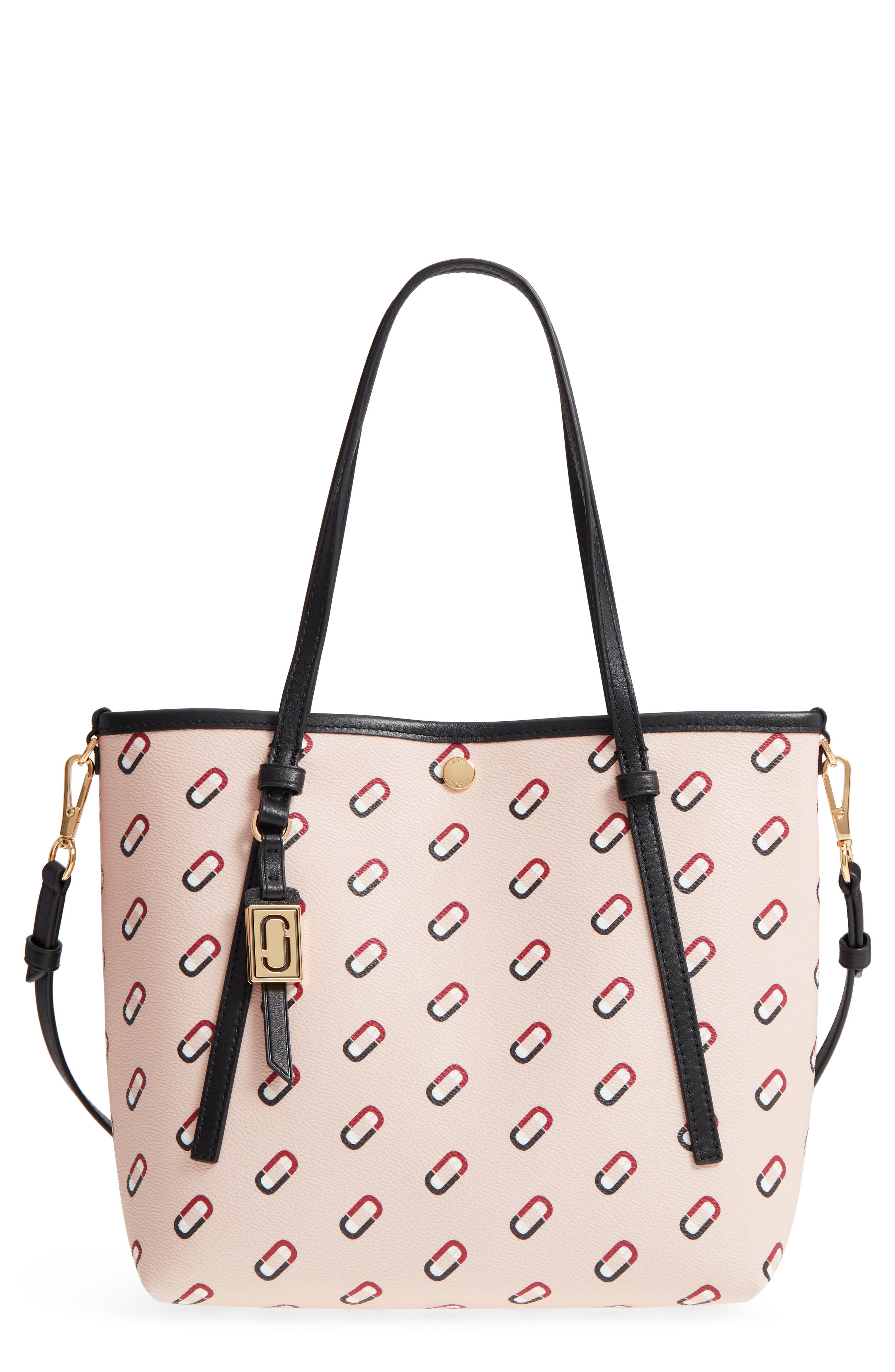 MARC JACOBS Logo Scream Faux Leather Tote