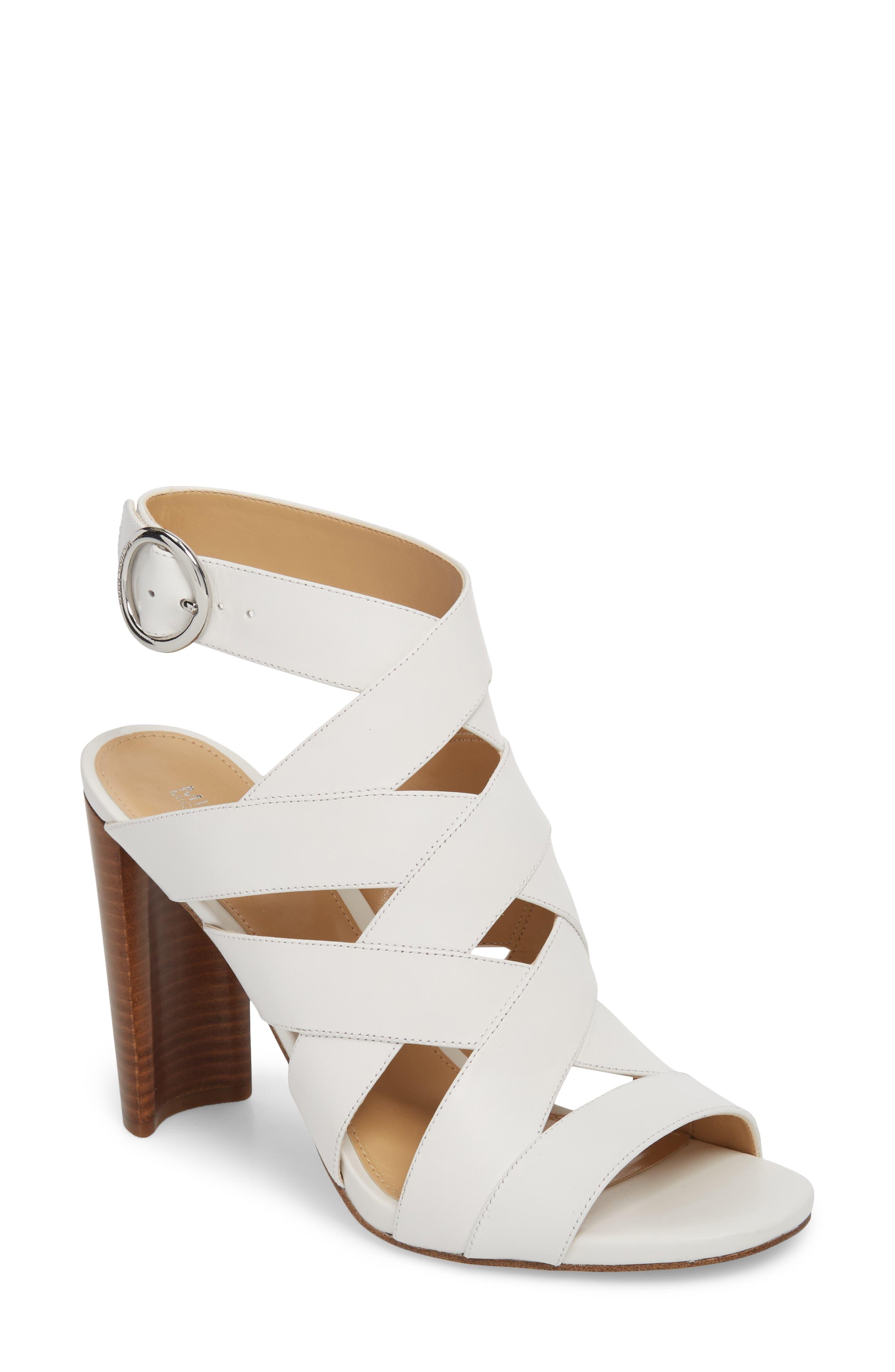 Alana Sandal,                         Main,                         color, Optic White Leather