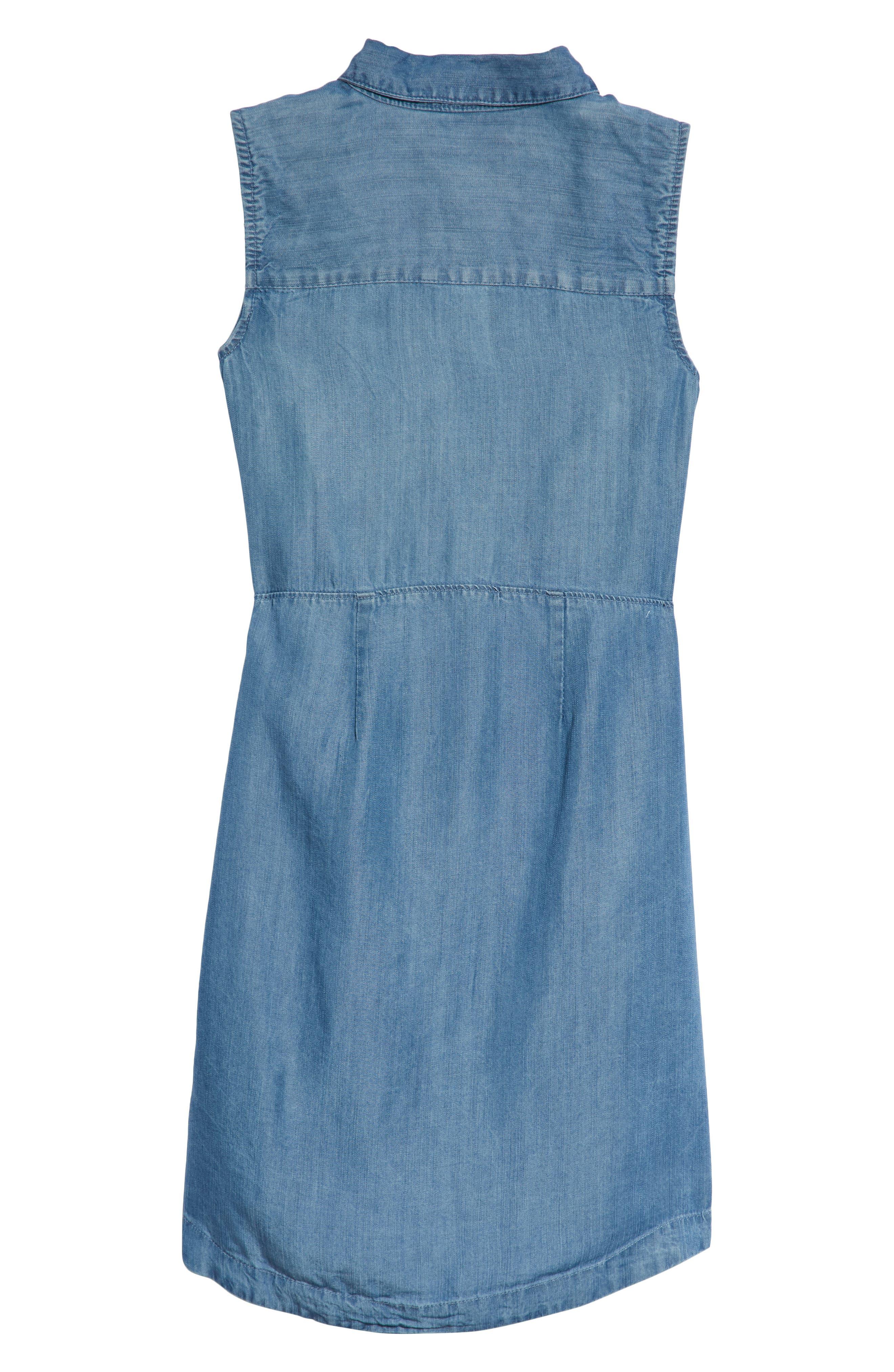 Denim Shirtdress,                             Alternate thumbnail 2, color,                             Bella Blue
