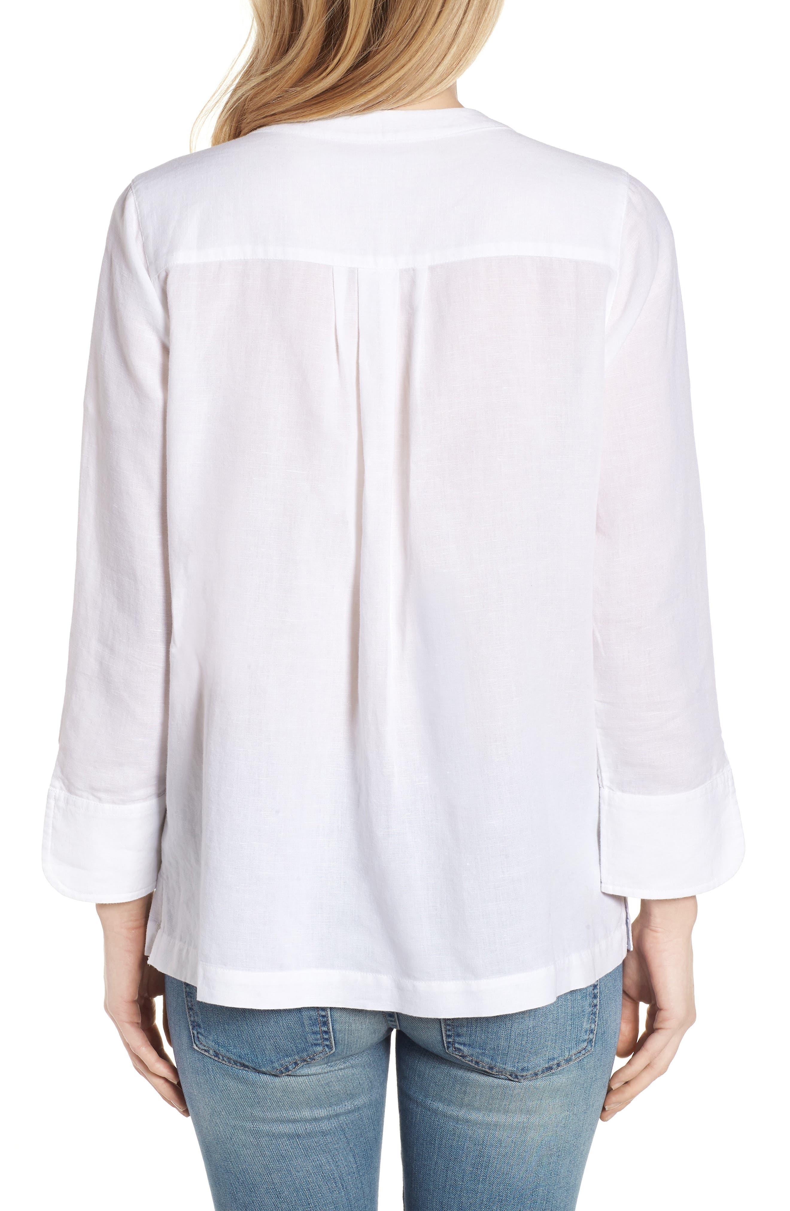 Embellished Tunic Top,                             Alternate thumbnail 2, color,                             White Cap