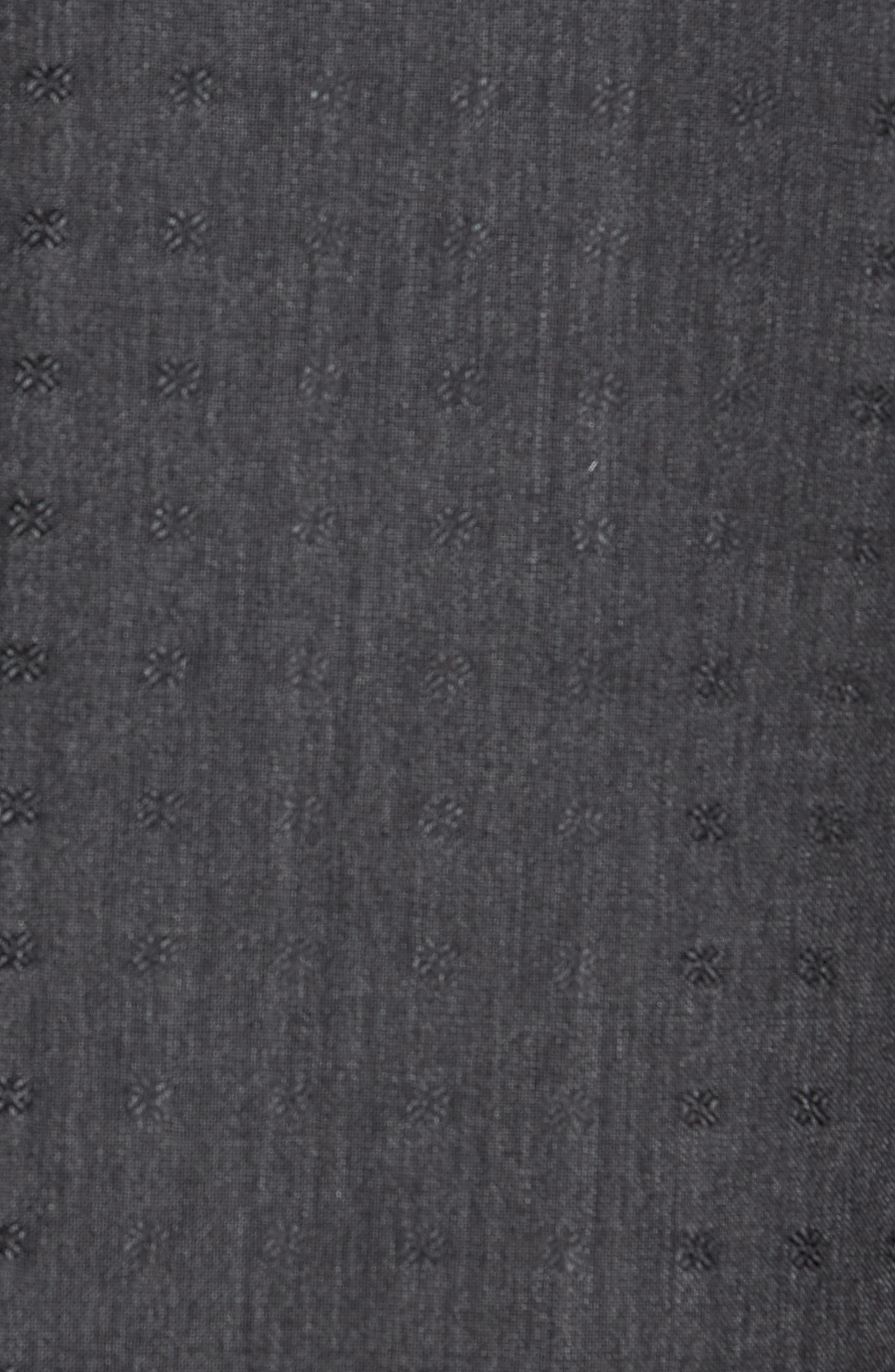 Morgan Trim Fit Wool Dinner Jacket,                             Alternate thumbnail 5, color,                             Charcoal Dobby