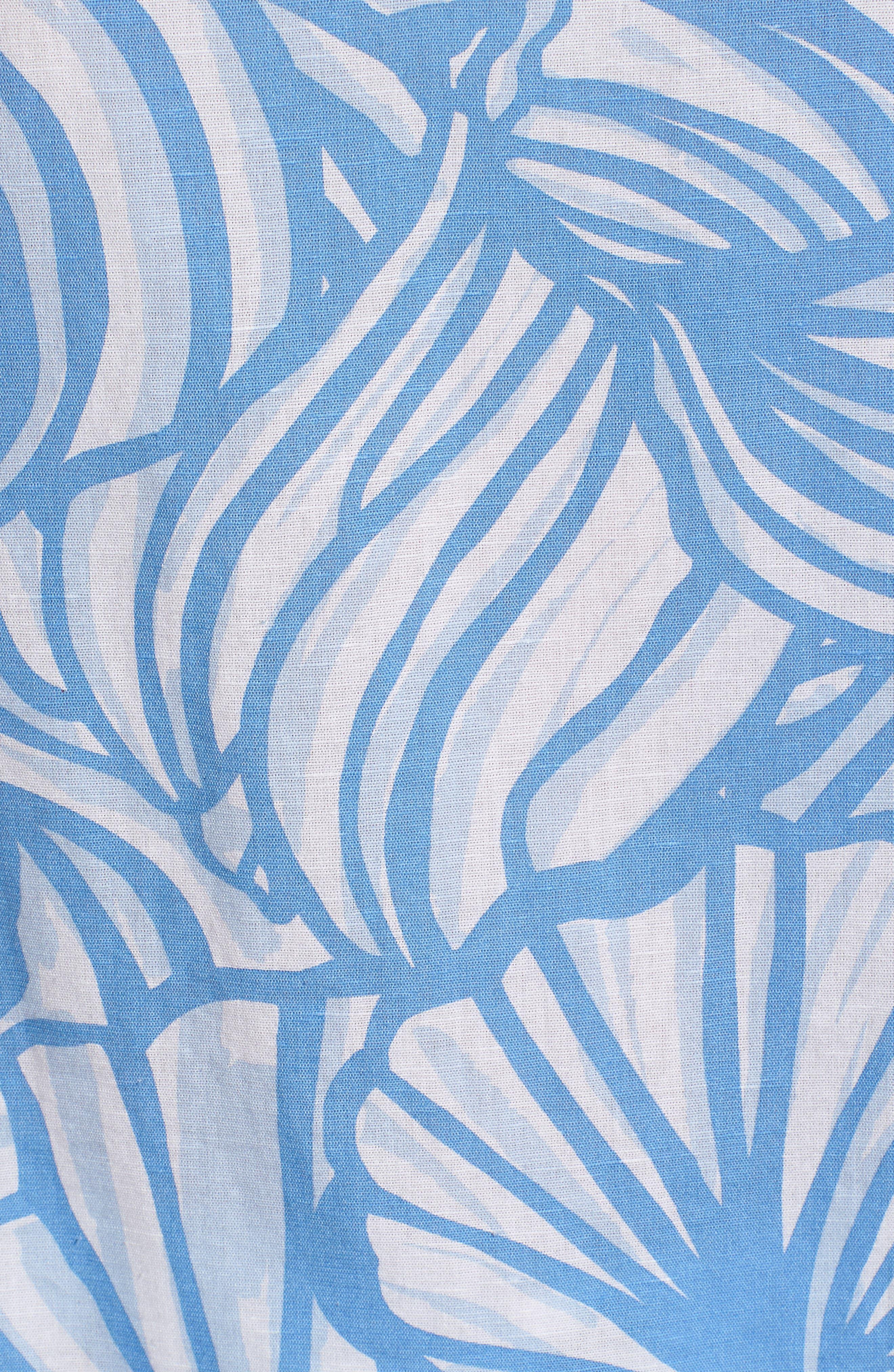 Nautilus Print Blouse,                             Alternate thumbnail 6, color,                             Cornflower