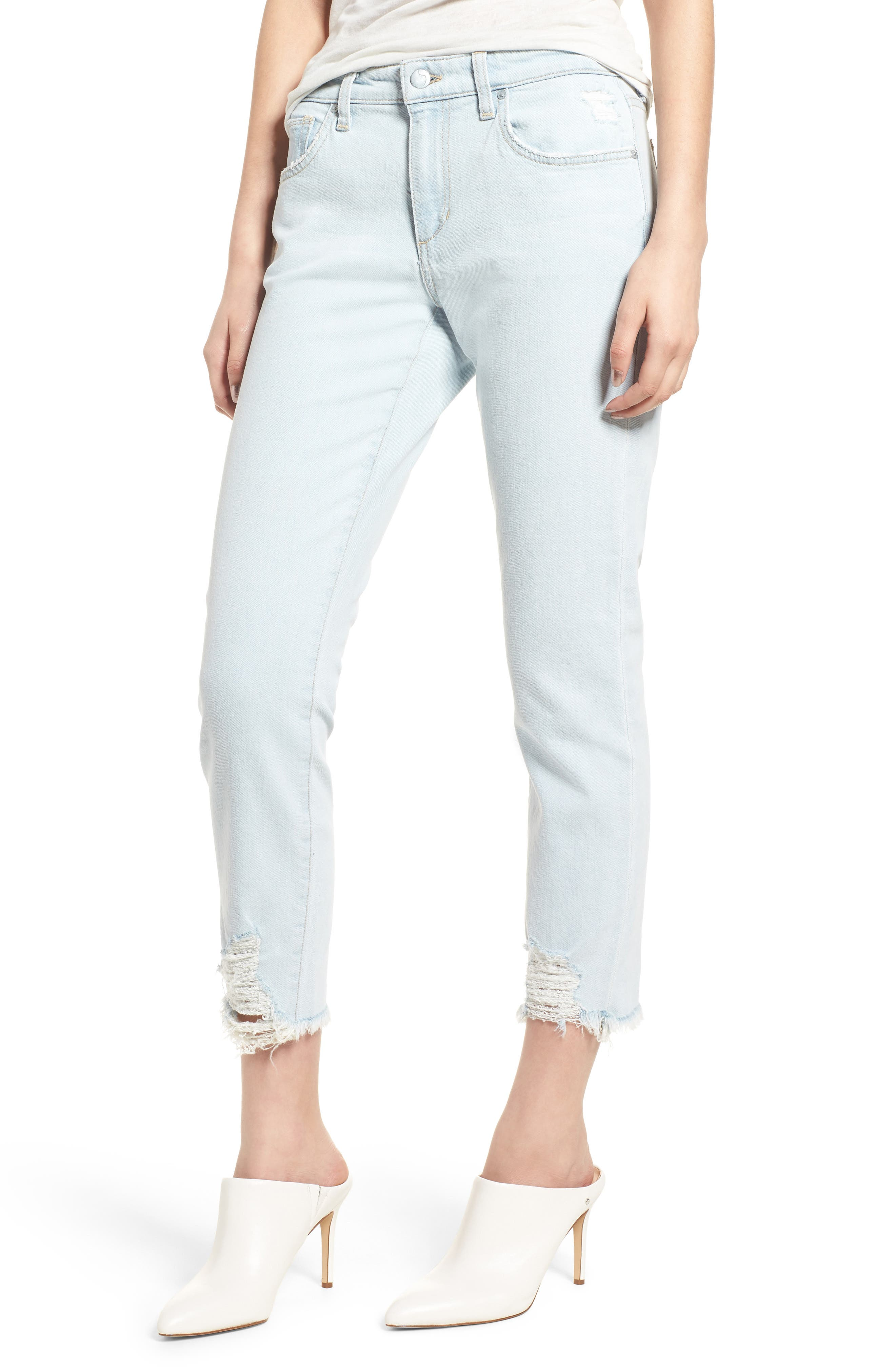 Smith Crop Boyfriend Jeans,                             Main thumbnail 1, color,                             Liya