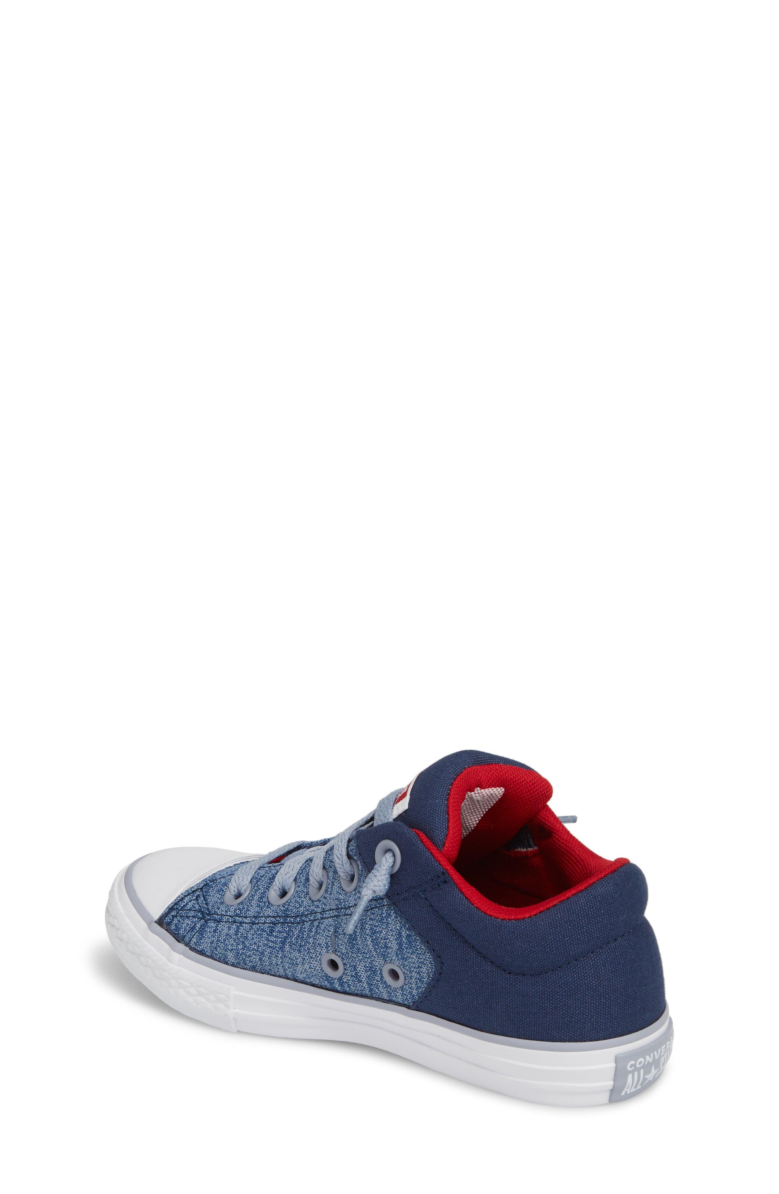 One Star Heather Street Sneaker,                             Alternate thumbnail 2, color,                             Navy