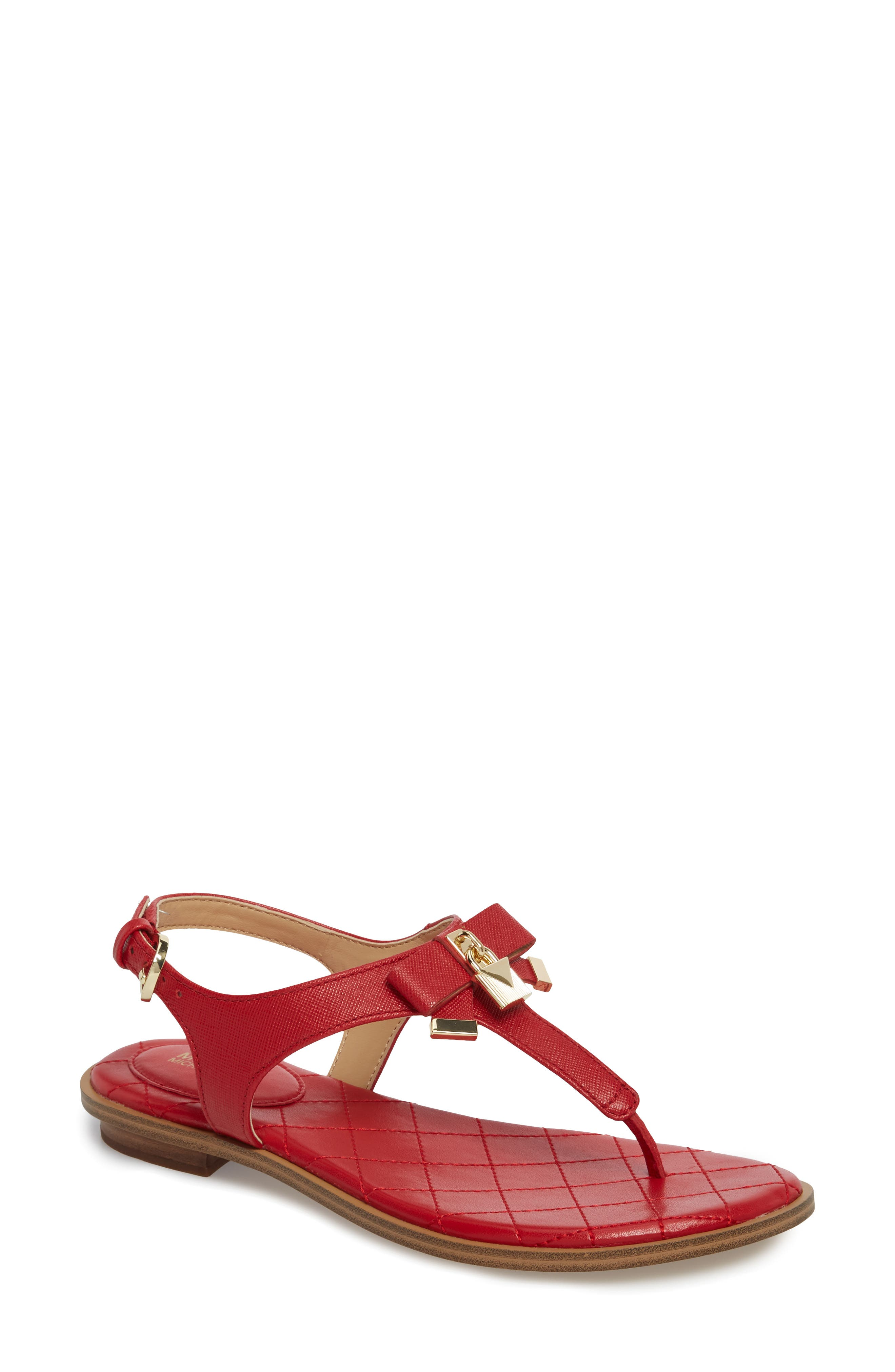 Alice Sandal,                             Main thumbnail 1, color,                             Bright Red