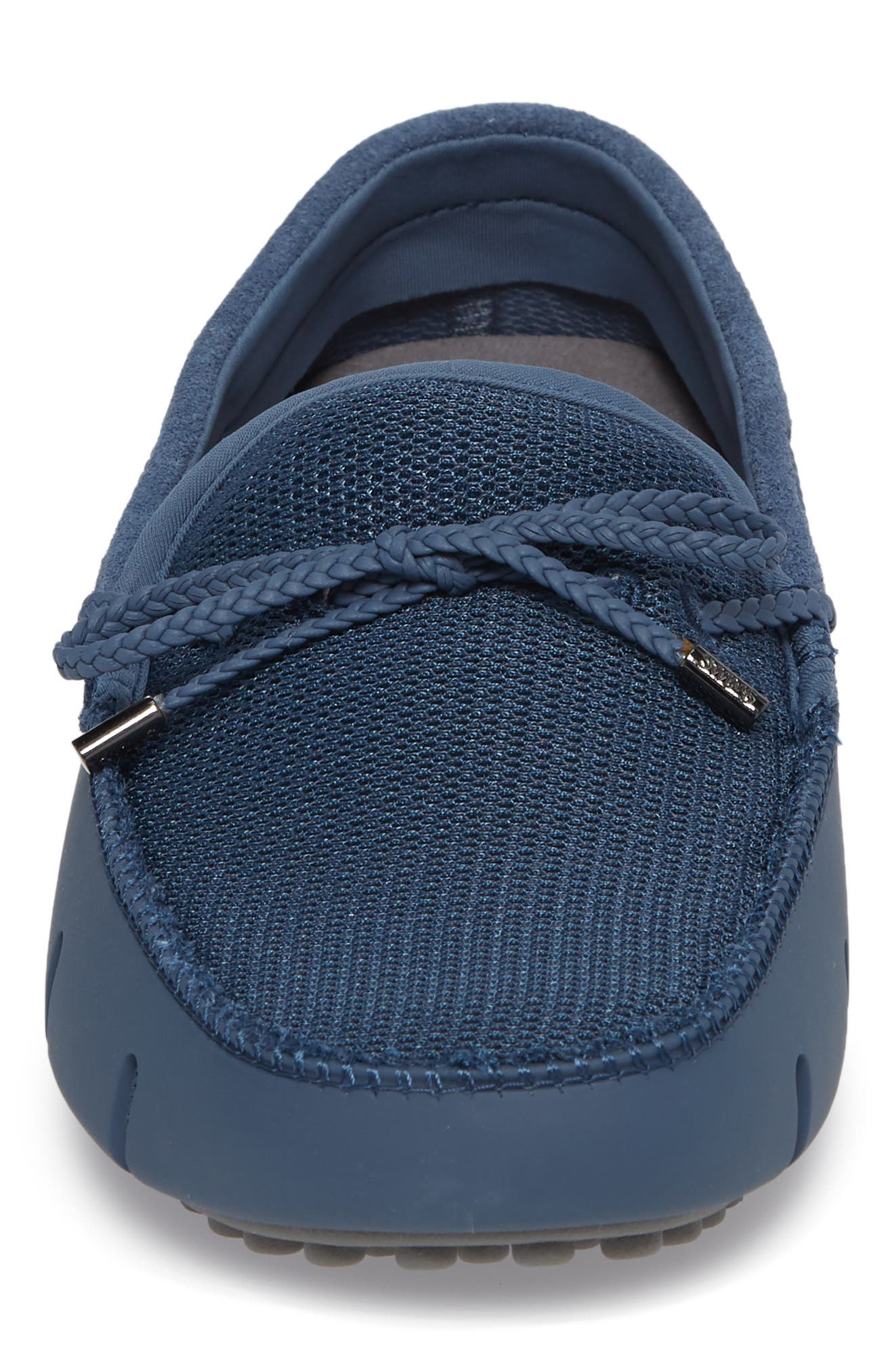 Washable Driving Loafer,                             Alternate thumbnail 4, color,                             Slate/ Grey Fabric