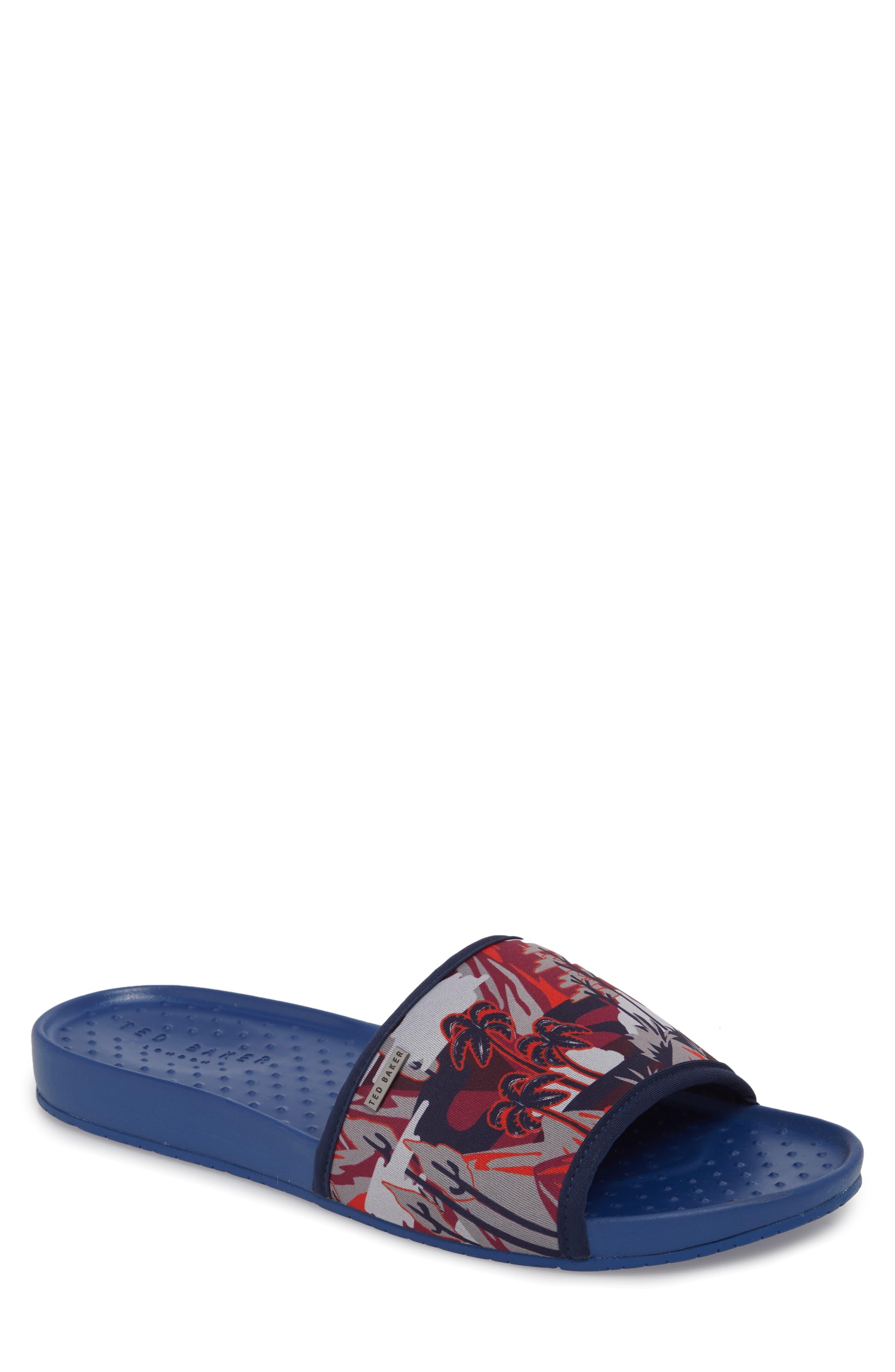 Sauldi 2 Slide Sandal,                         Main,                         color, Dark Blue