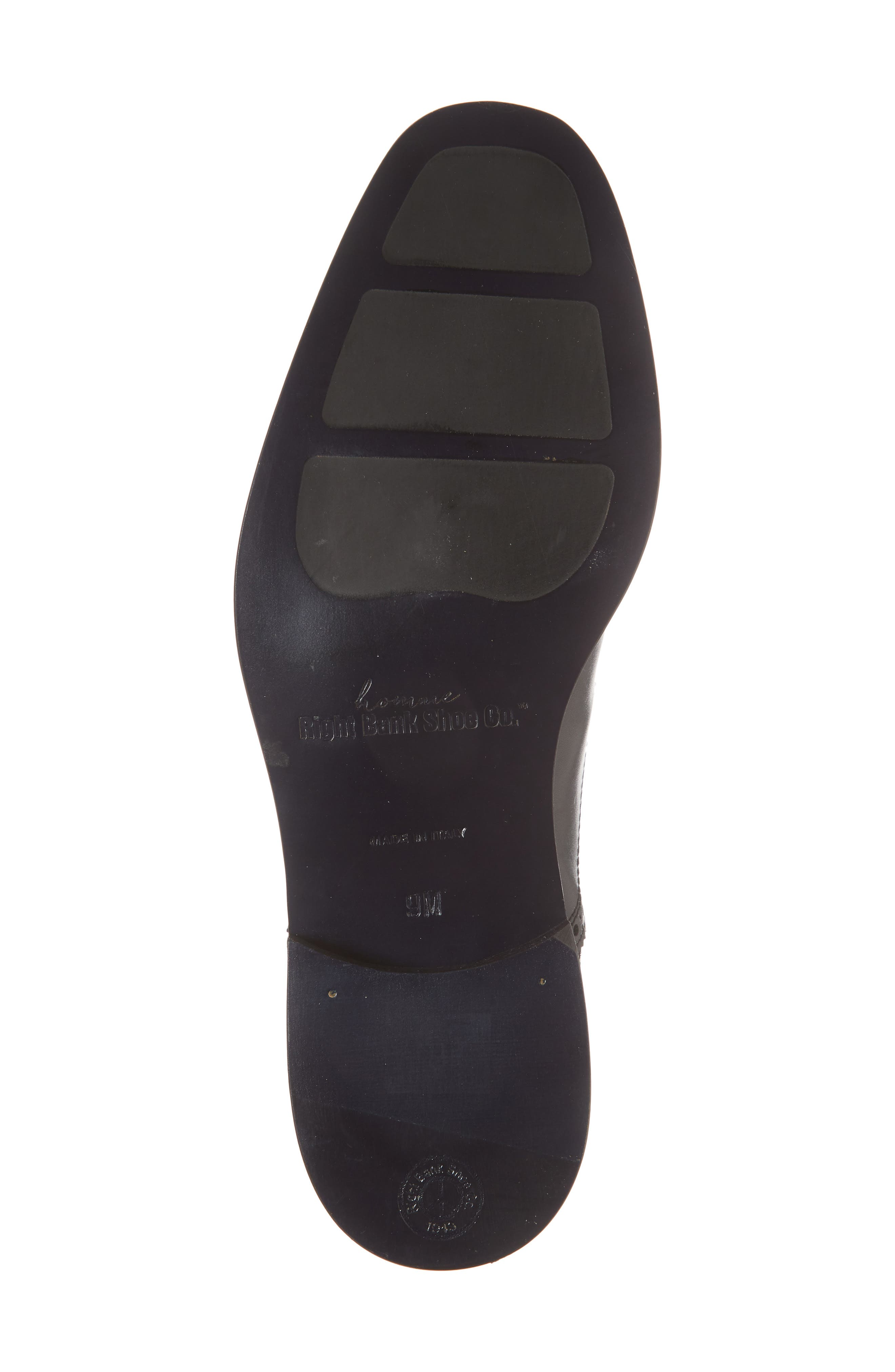 Index Cap Toe Oxford,                             Alternate thumbnail 6, color,                             Black Leather
