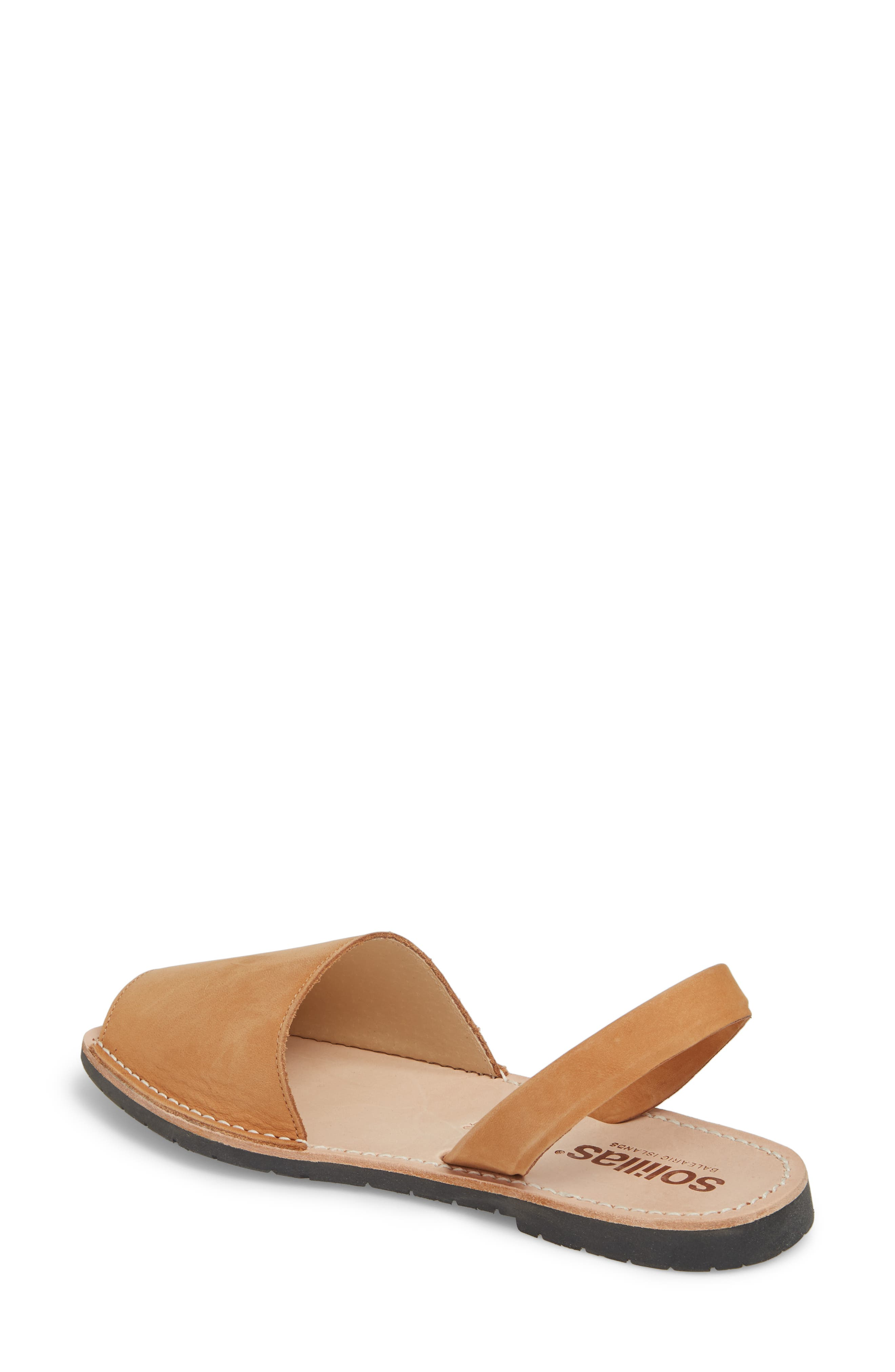 Flat Sandal,                             Alternate thumbnail 2, color,                             Tan