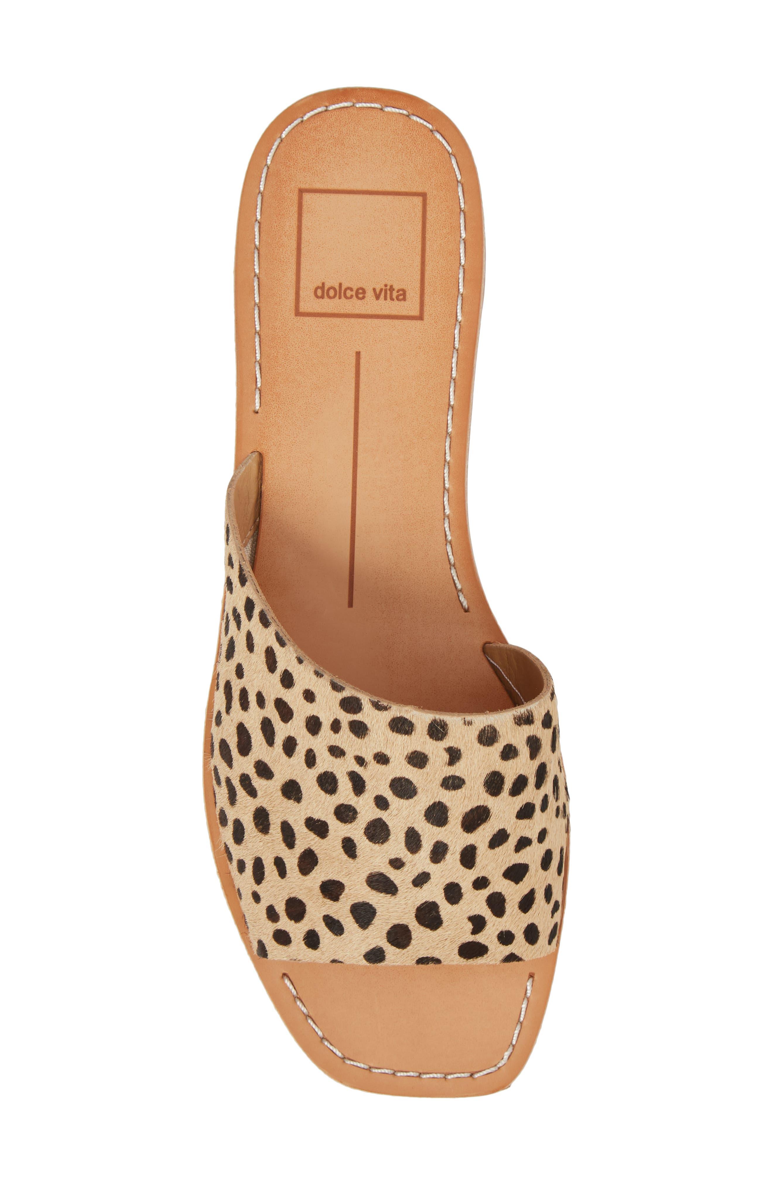 Cato Genuine Calf Hair Slide Sandal,                             Alternate thumbnail 5, color,                             Leopard Calf Hair