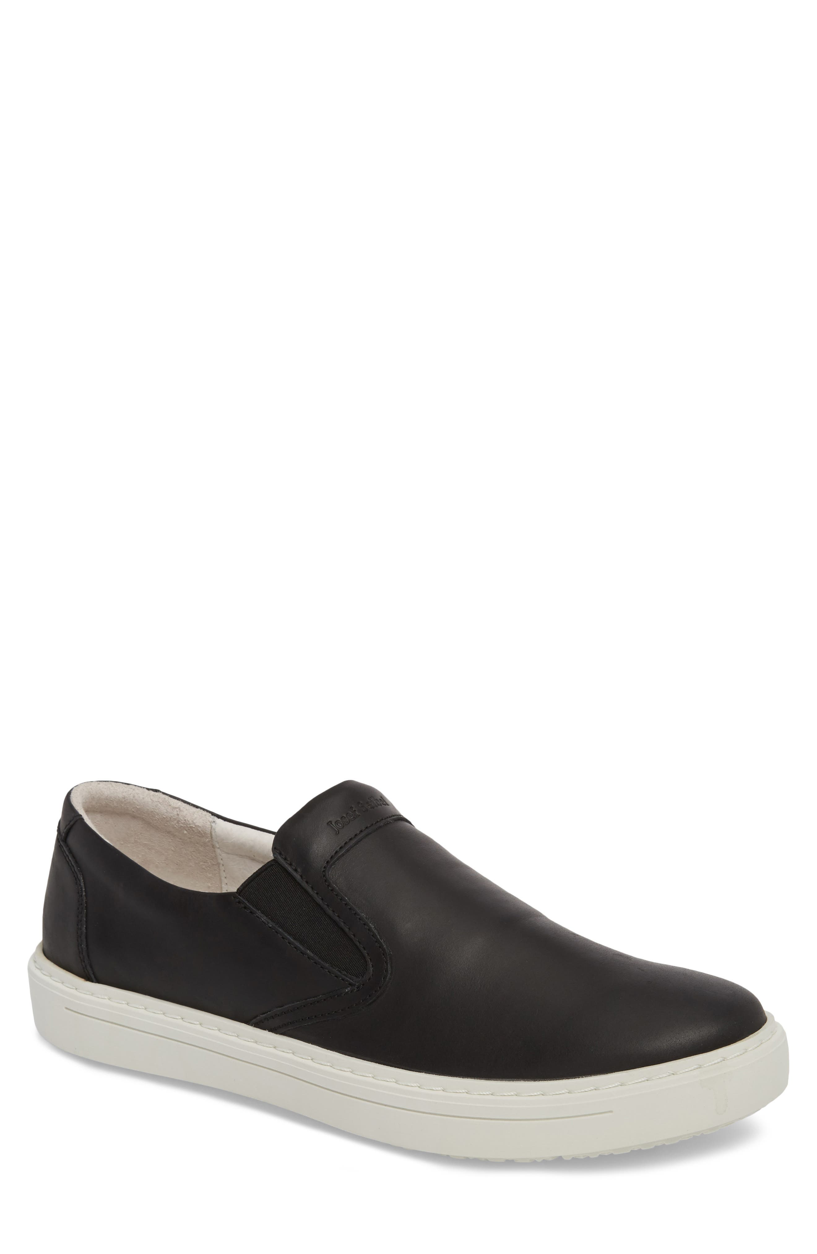 Quentin 15 Slip-On Sneaker,                             Main thumbnail 1, color,                             Black Leather