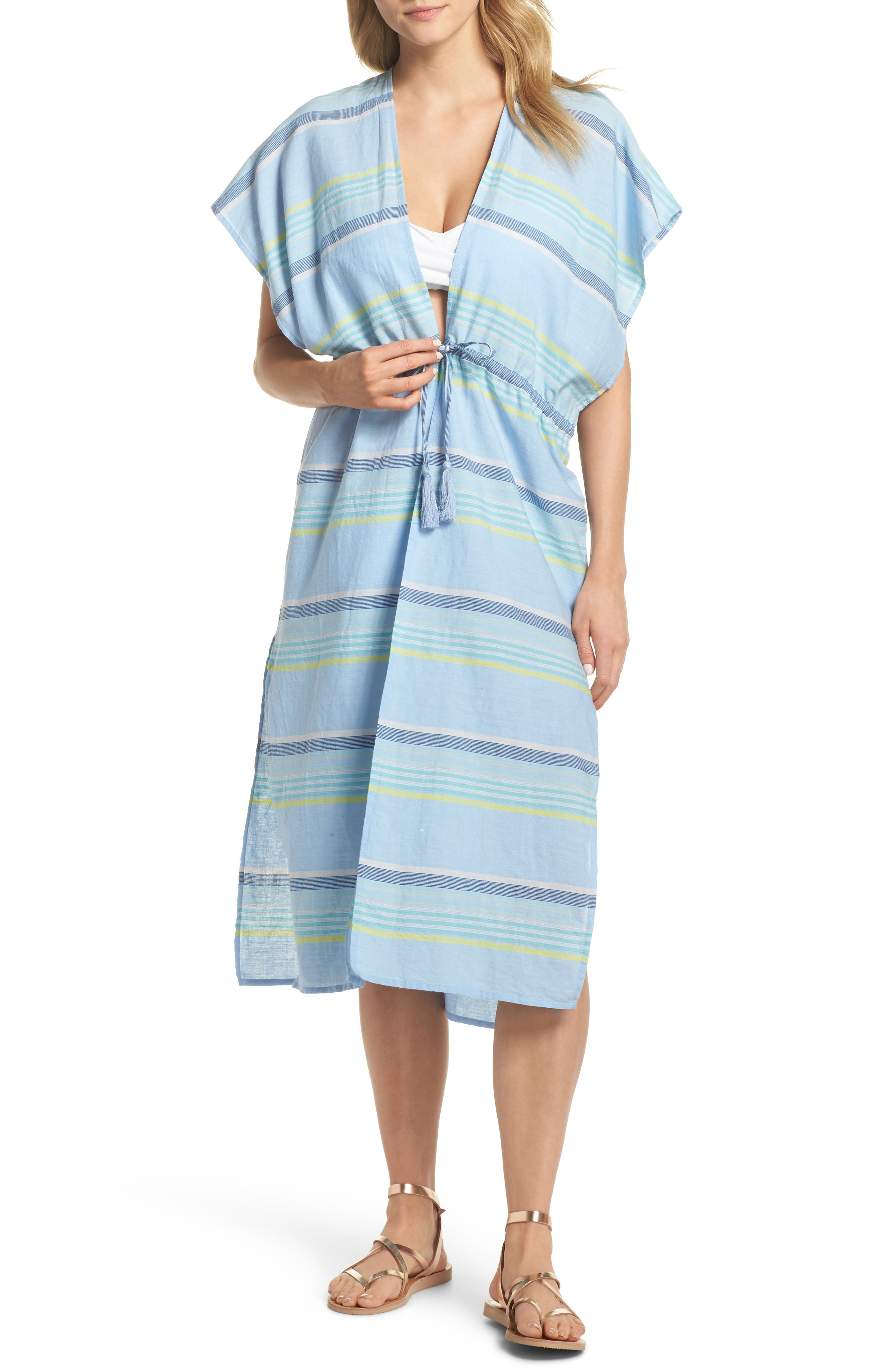Sunset Stripe Cover-Up,                         Main,                         color, Sky Blue
