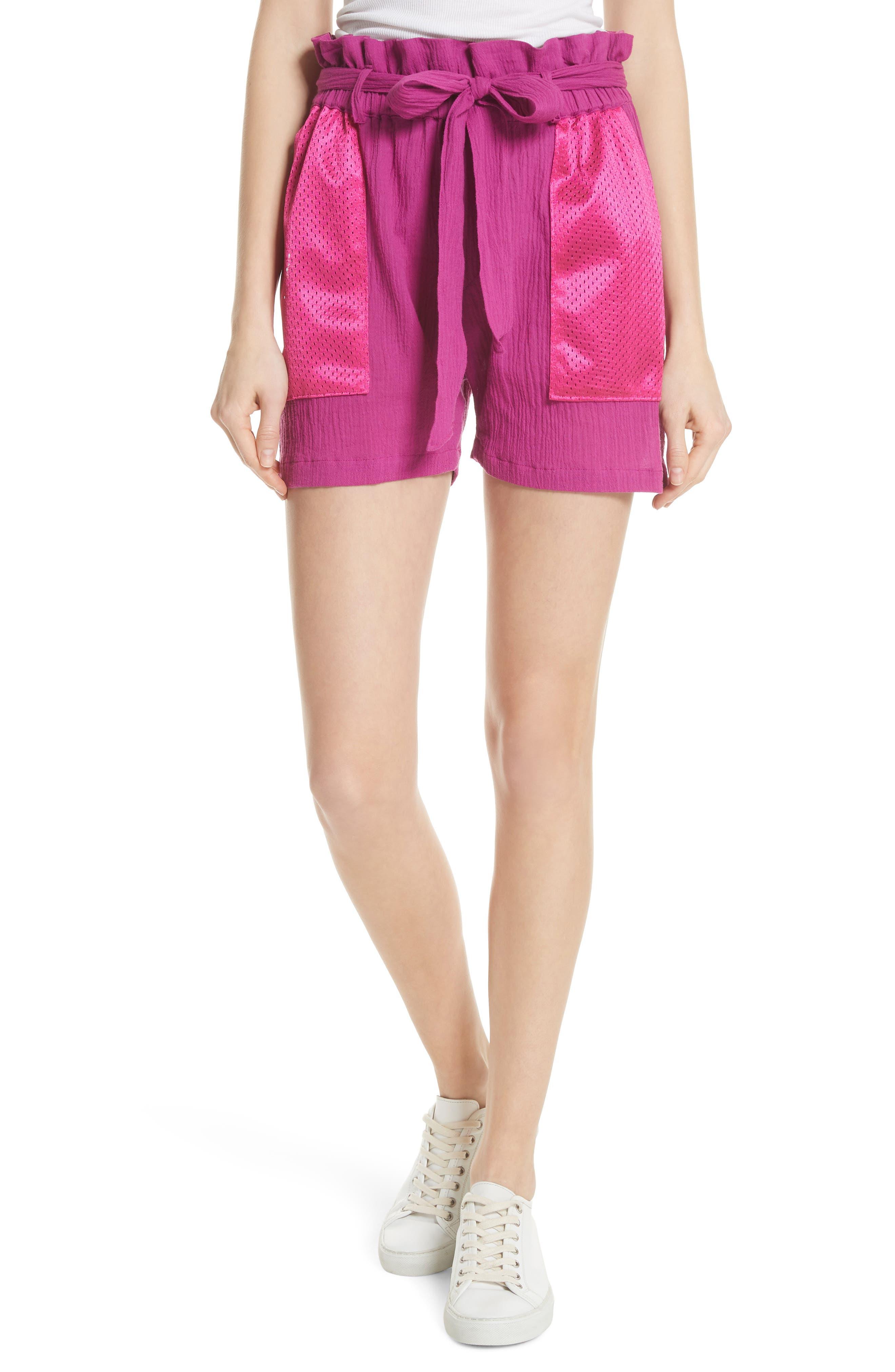 Island Mesh Pocket Shorts,                         Main,                         color, Magenta