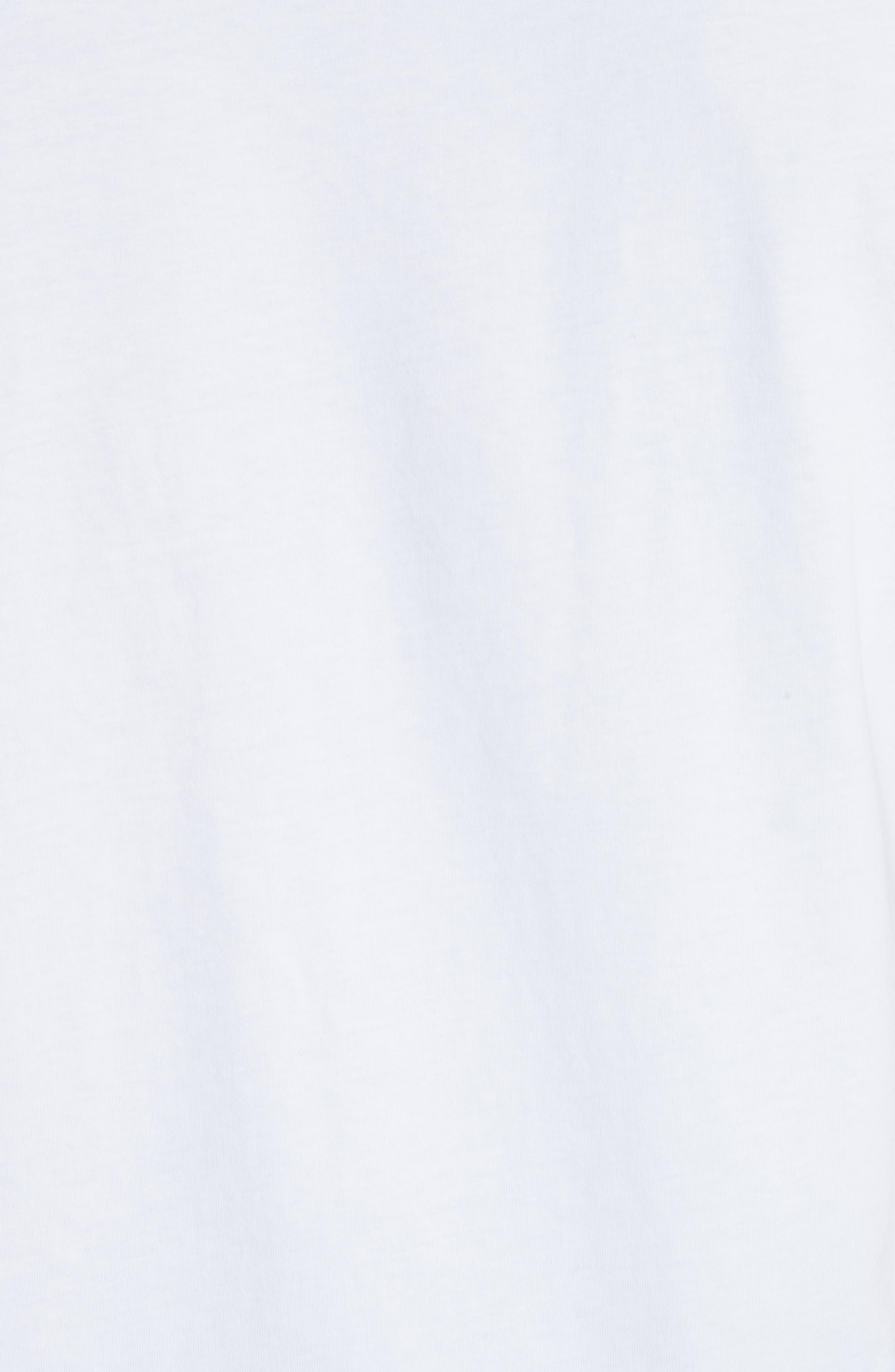 Dino Print Pocket T-Shirt,                             Alternate thumbnail 5, color,                             White