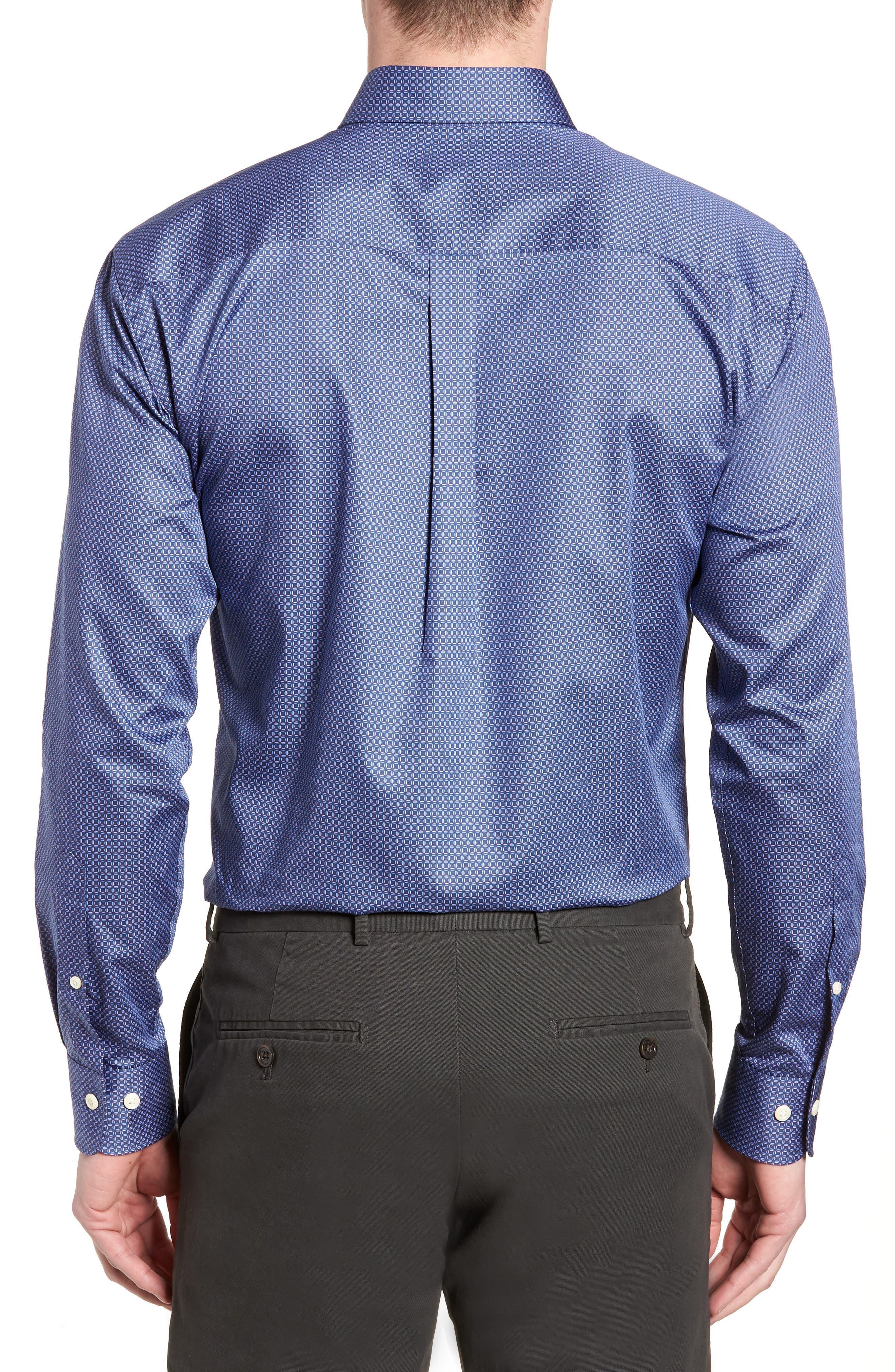 Dark Roast Print Sport Shirt,                             Alternate thumbnail 2, color,                             Yankee Blue
