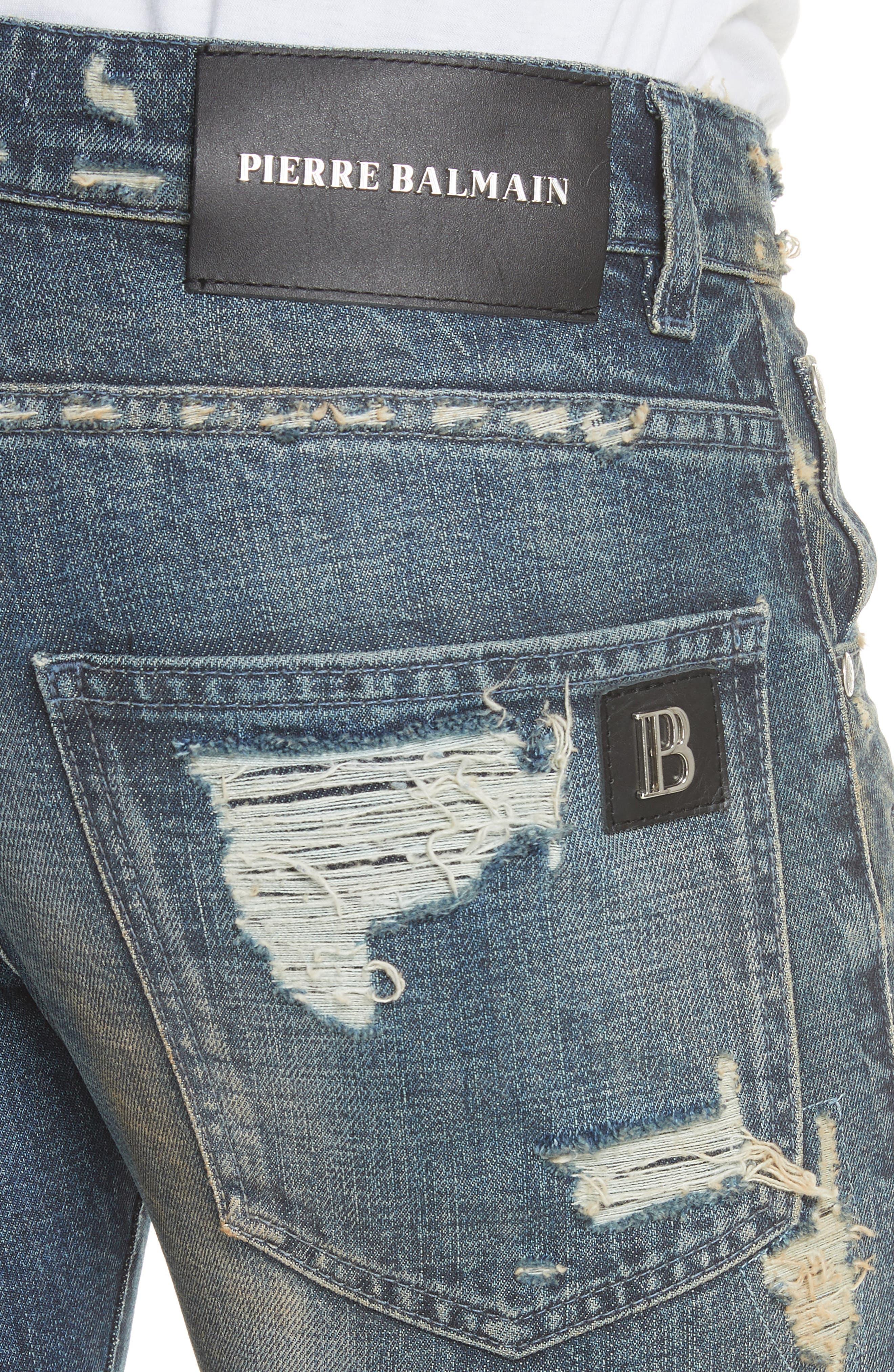 Alternate Image 4  - Pierre Balmain Destroyed Biker Jeans