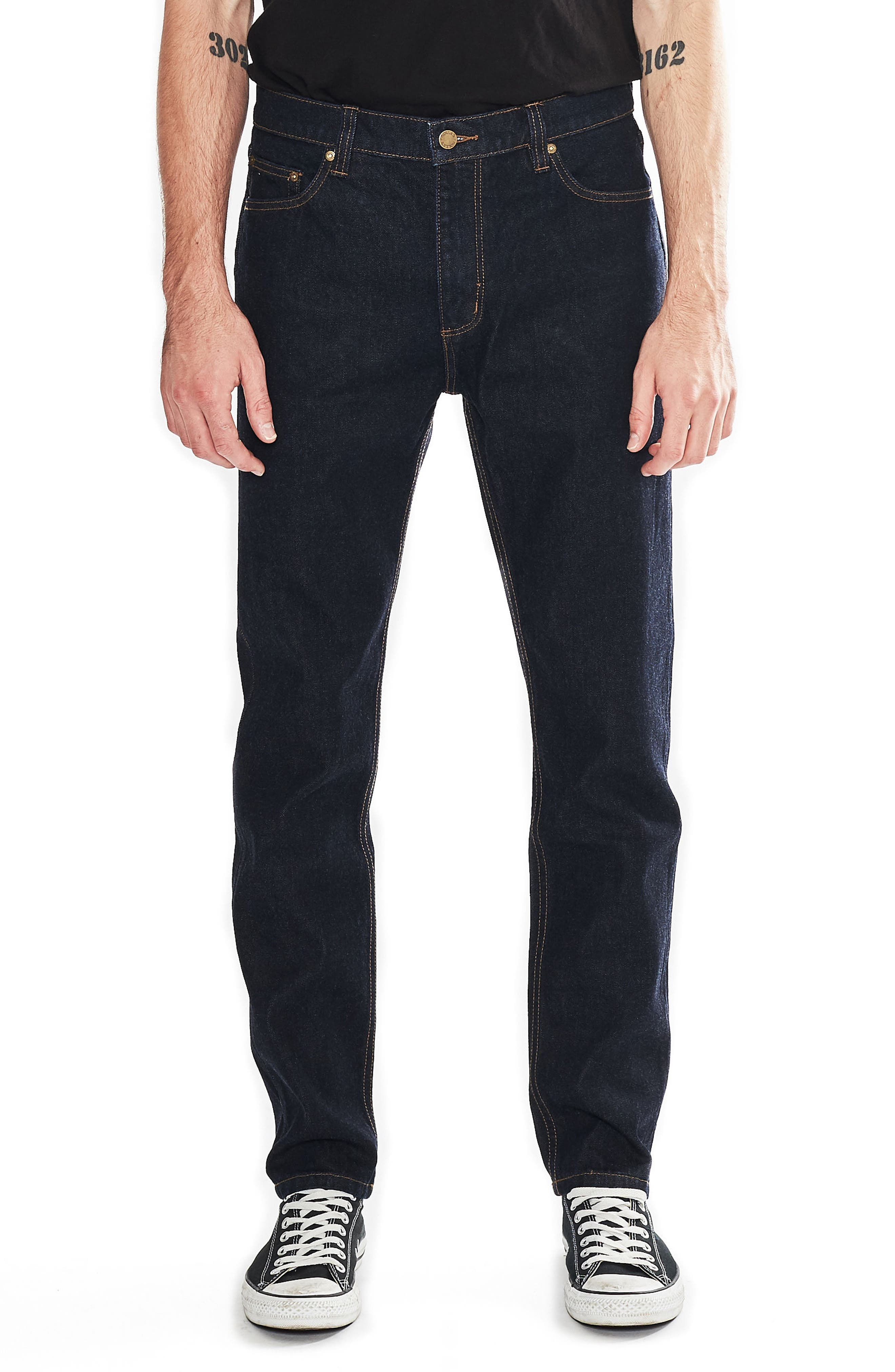 Tim Slims Slim Fit Jeans,                             Main thumbnail 1, color,                             Indigo Raw
