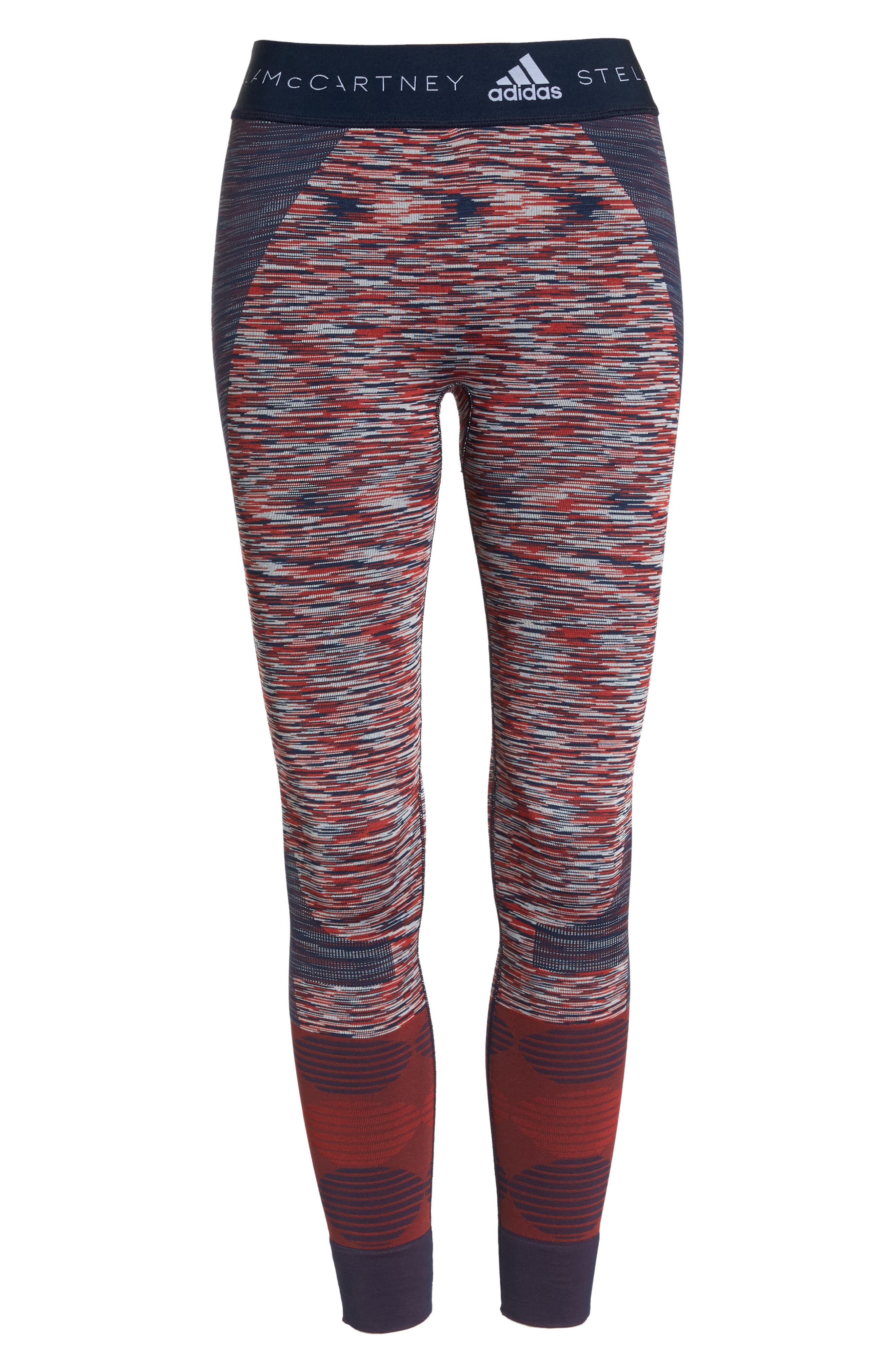 Yoga Seamless Space Dye Leggings,                             Alternate thumbnail 7, color,                             Navy