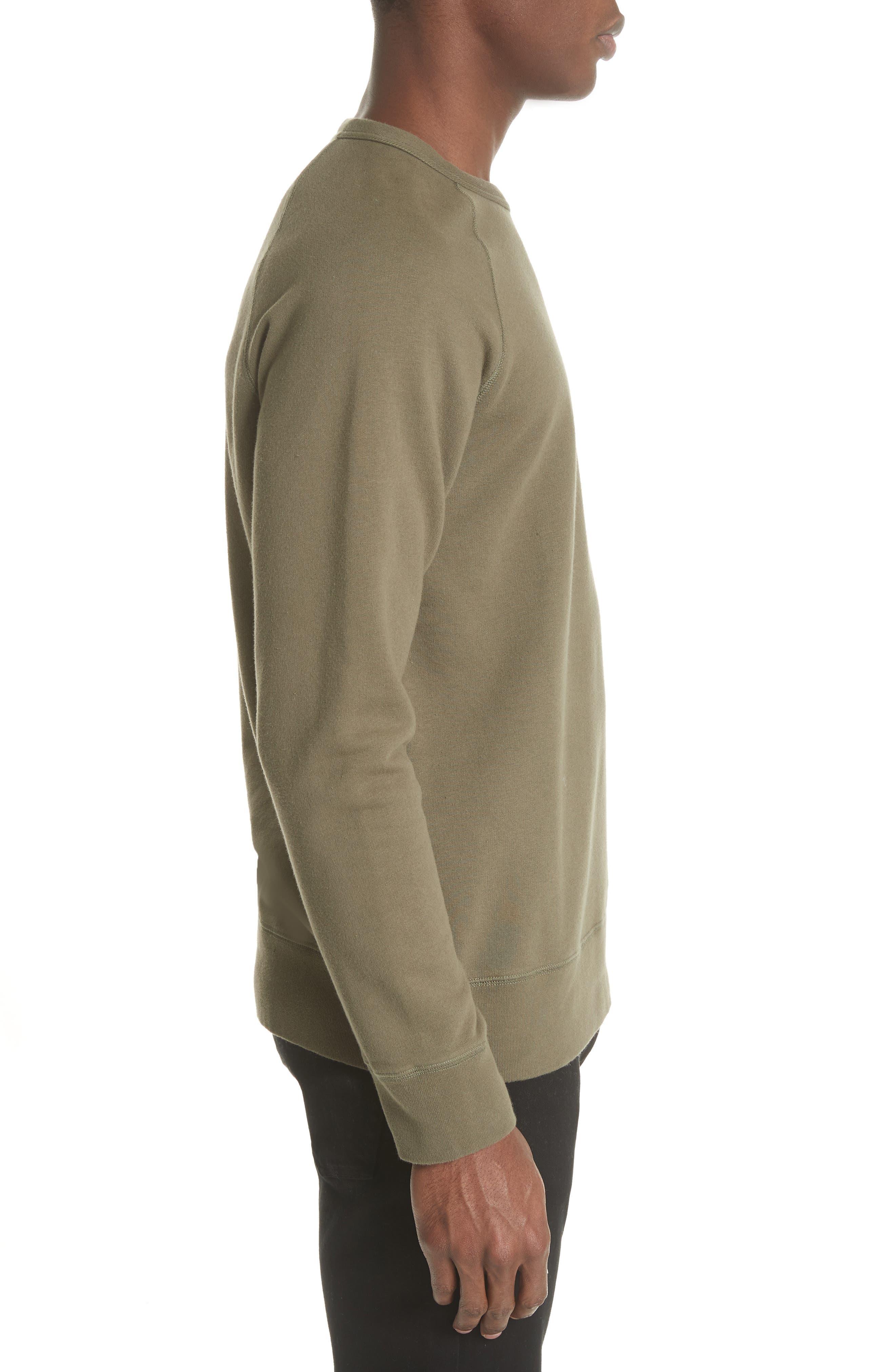 Core Crewneck Sweatshirt,                             Alternate thumbnail 3, color,                             Olive