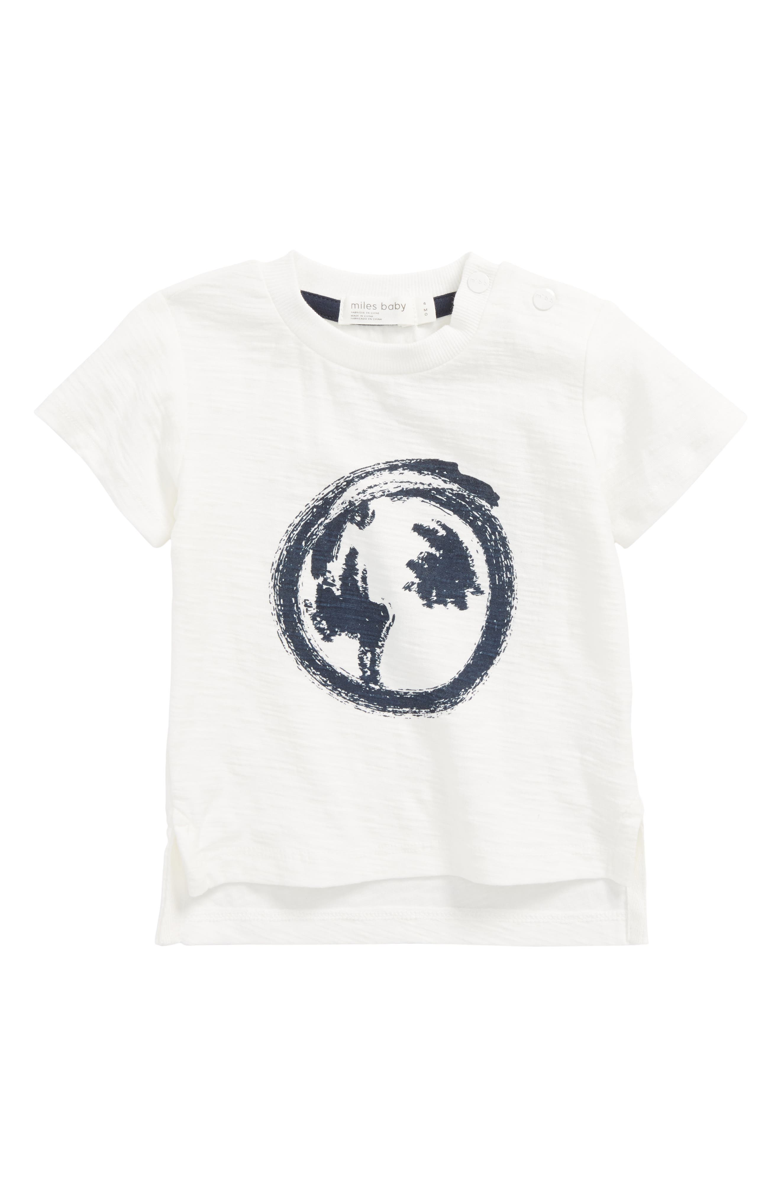 The World Awaits T-Shirt,                         Main,                         color, Off  White