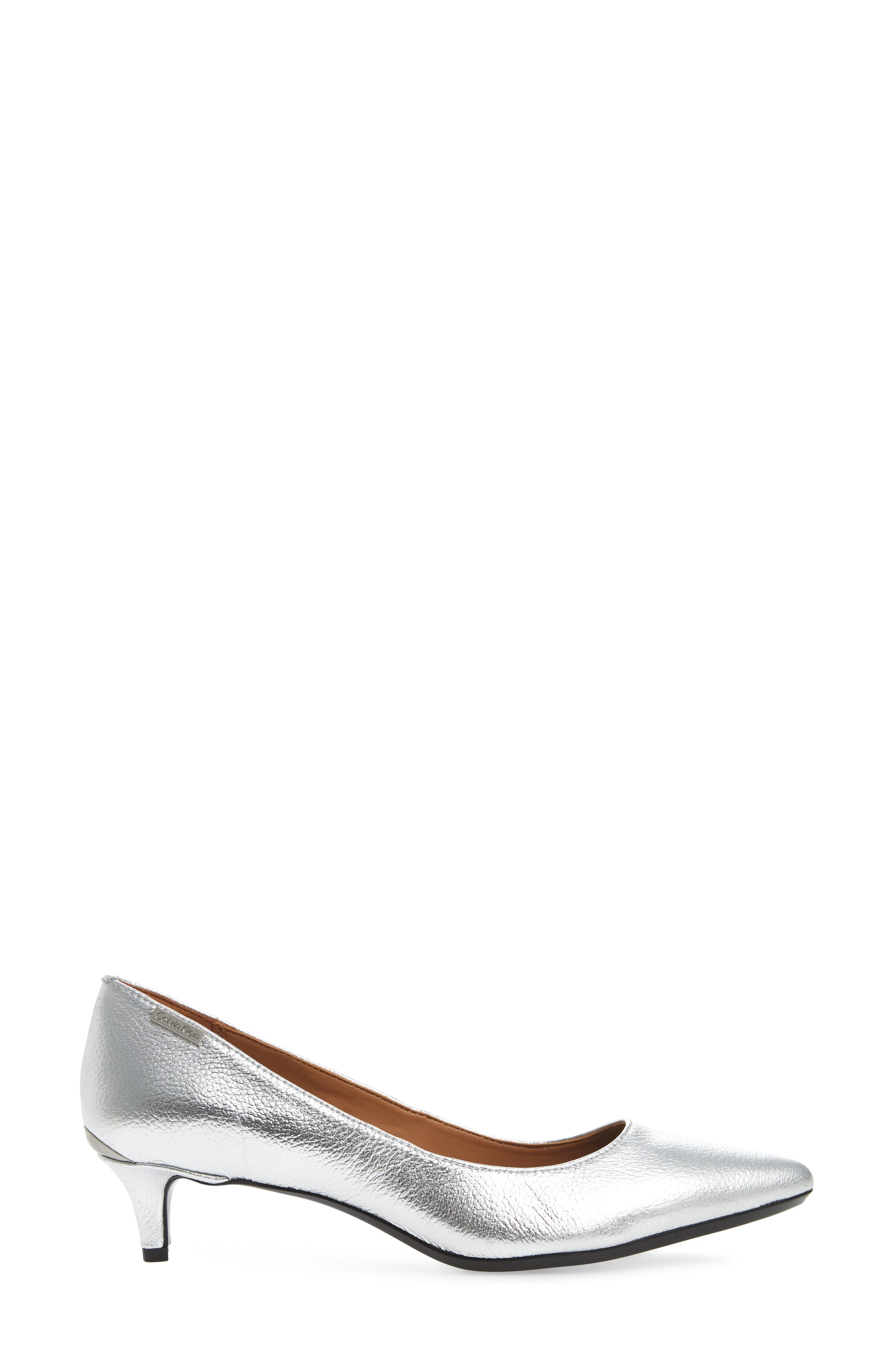 Gabrianna Pump,                             Alternate thumbnail 3, color,                             Silver Leather