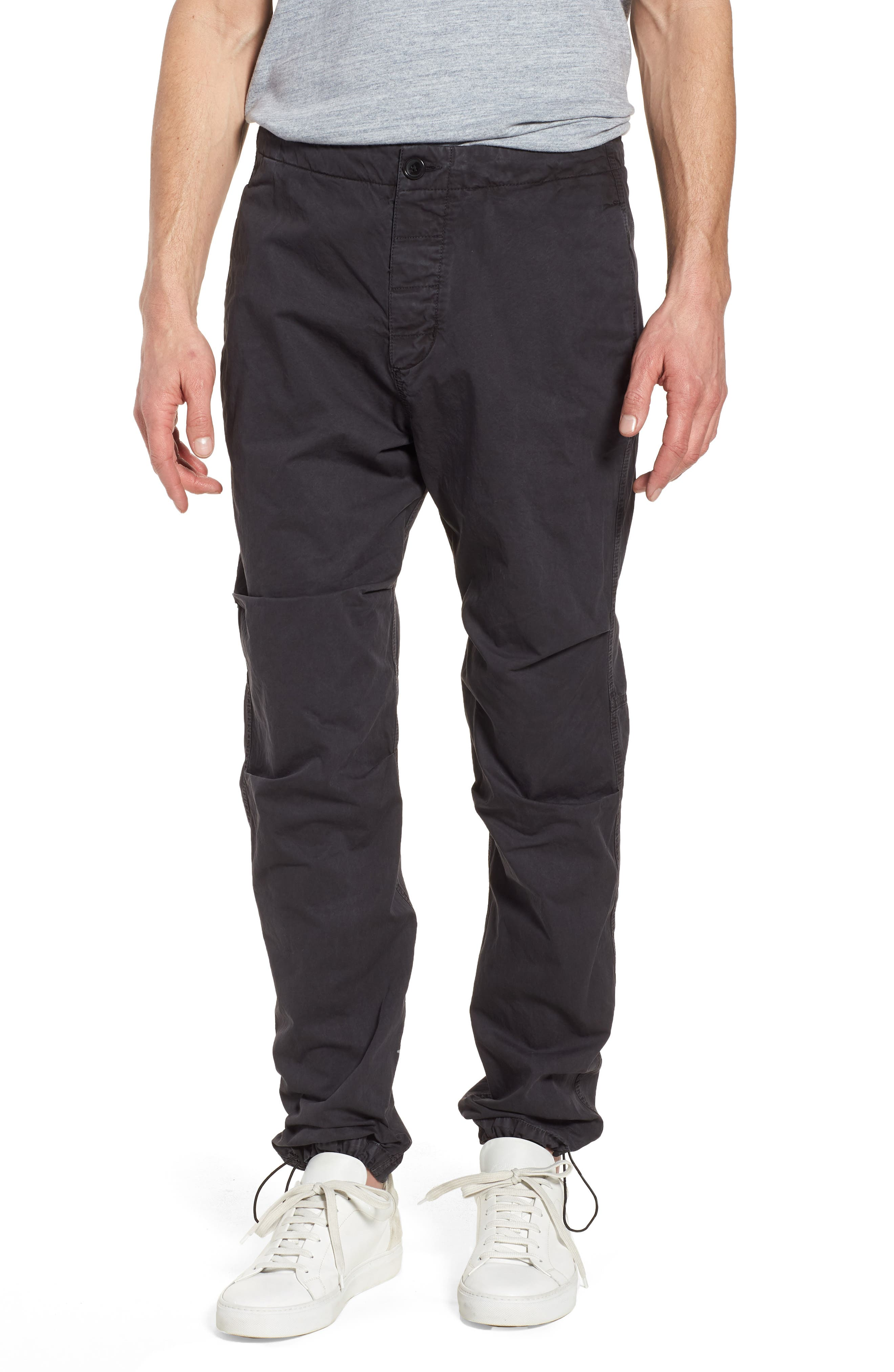 Relaxed Fit Cotton Twill Pants,                             Main thumbnail 1, color,                             Grey