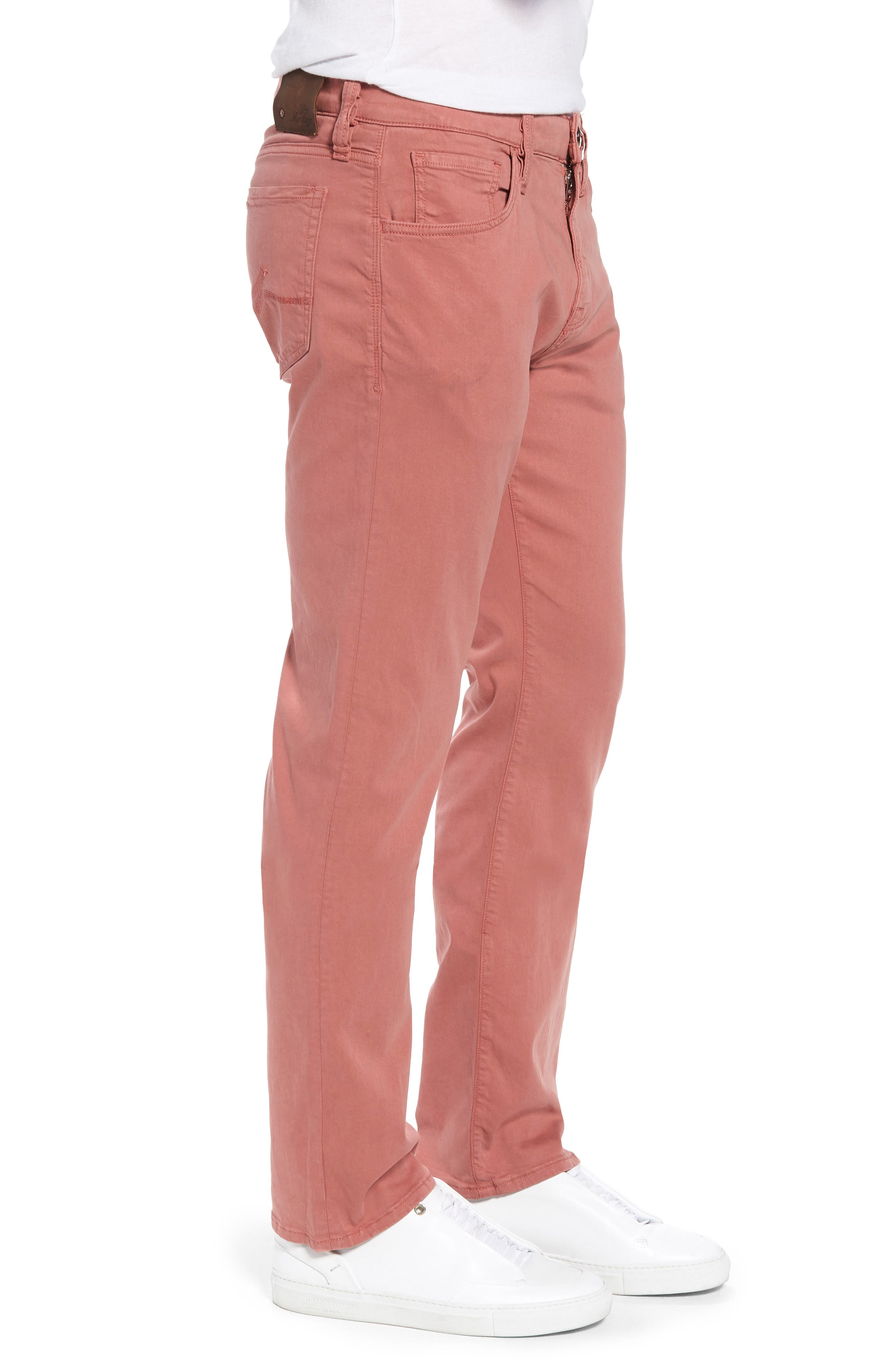 Courage Straight Leg Twill Pants,                             Alternate thumbnail 3, color,                             Brick Twill