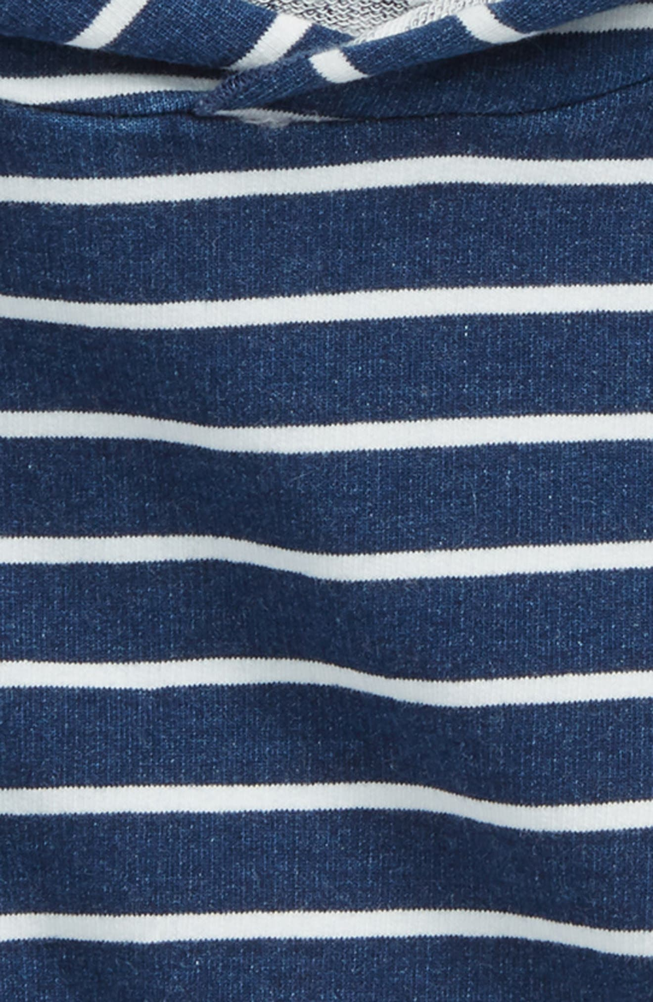 Alternate Image 2  - Miles Baby Stripe Hoodie (Baby Boys)