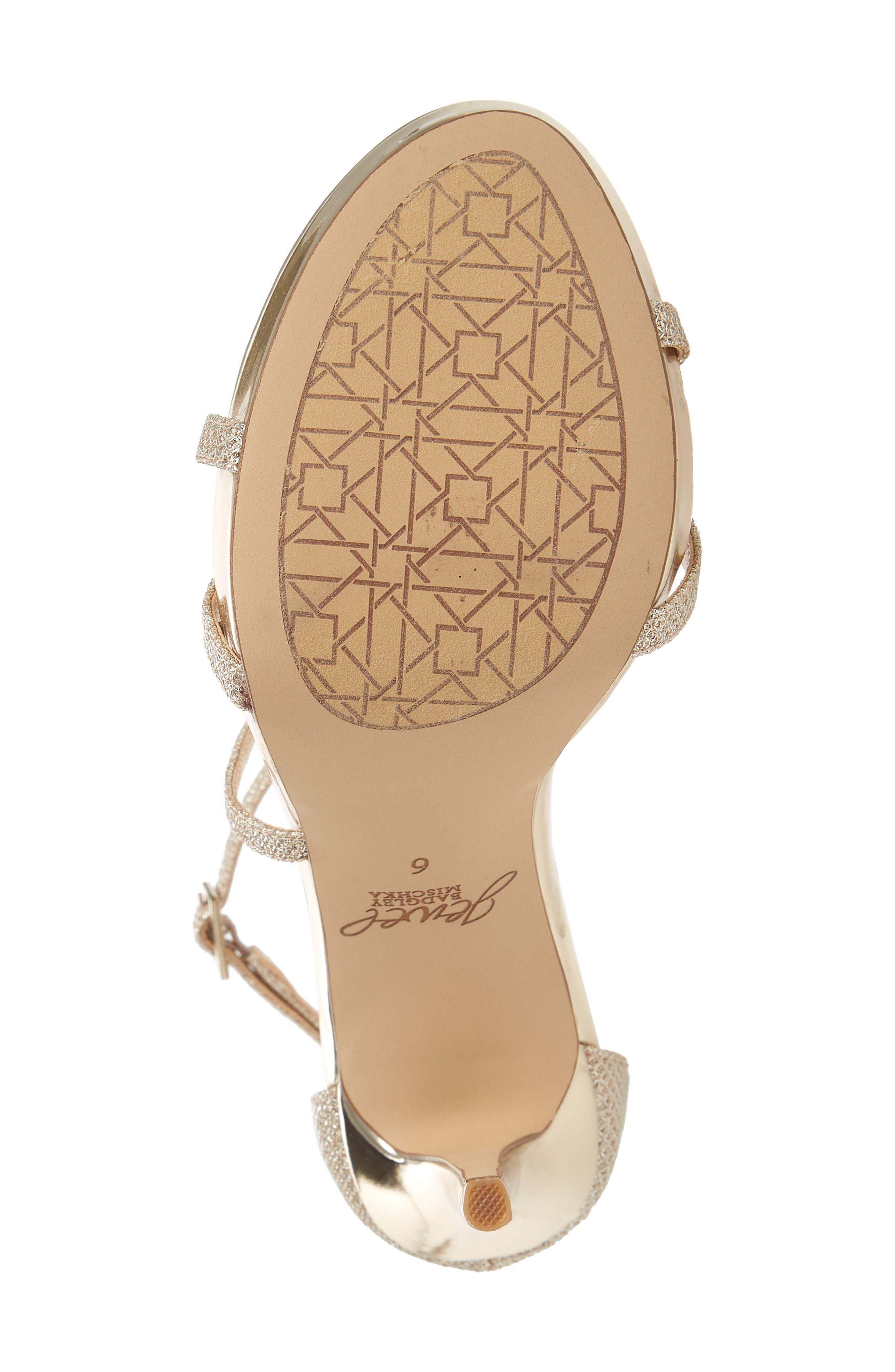 Galen Strappy Platform Sandal,                             Alternate thumbnail 6, color,                             Gold Glitter Fabric