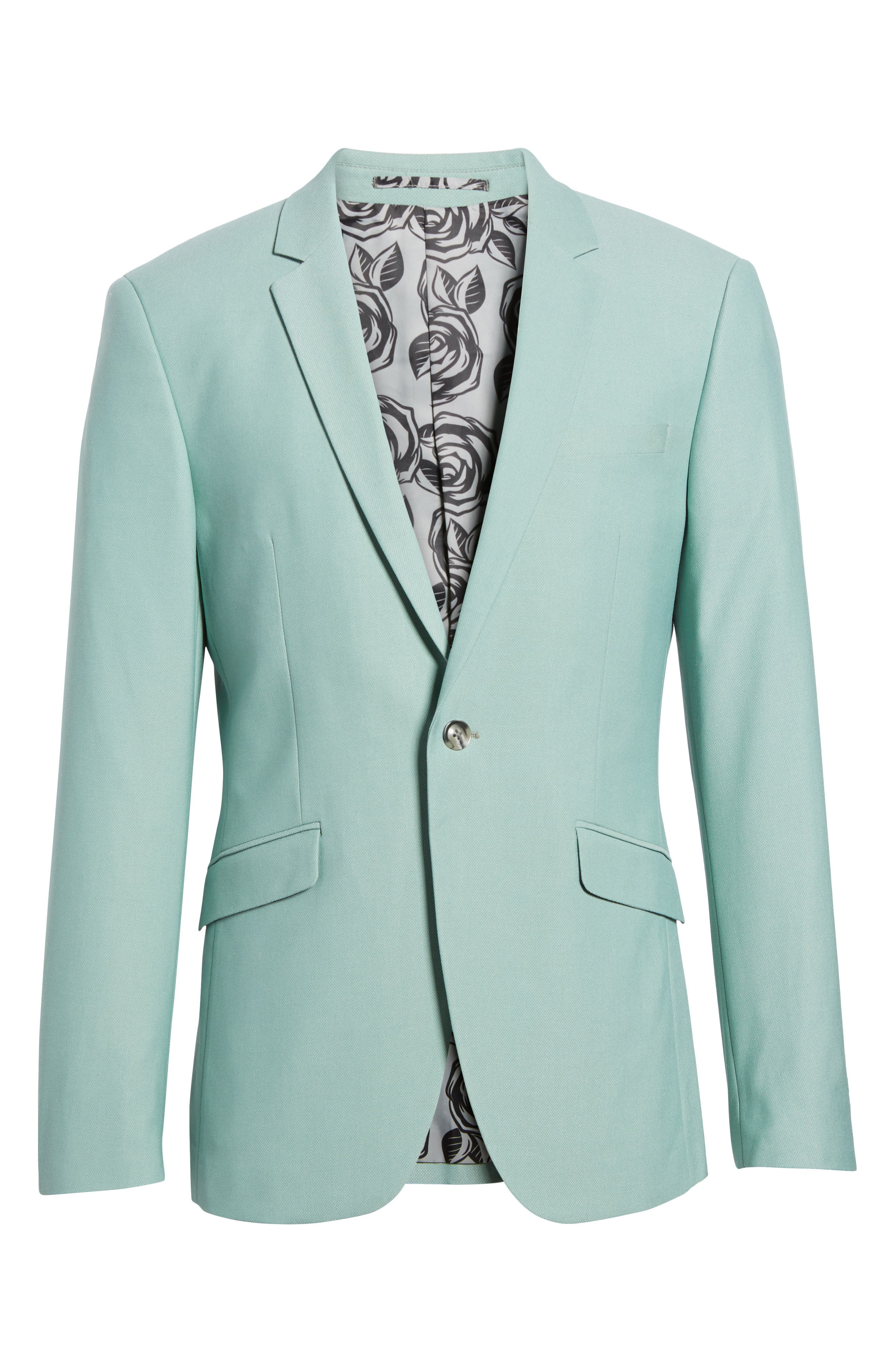 Skinny Fit Suit Jacket,                             Alternate thumbnail 7, color,                             Green