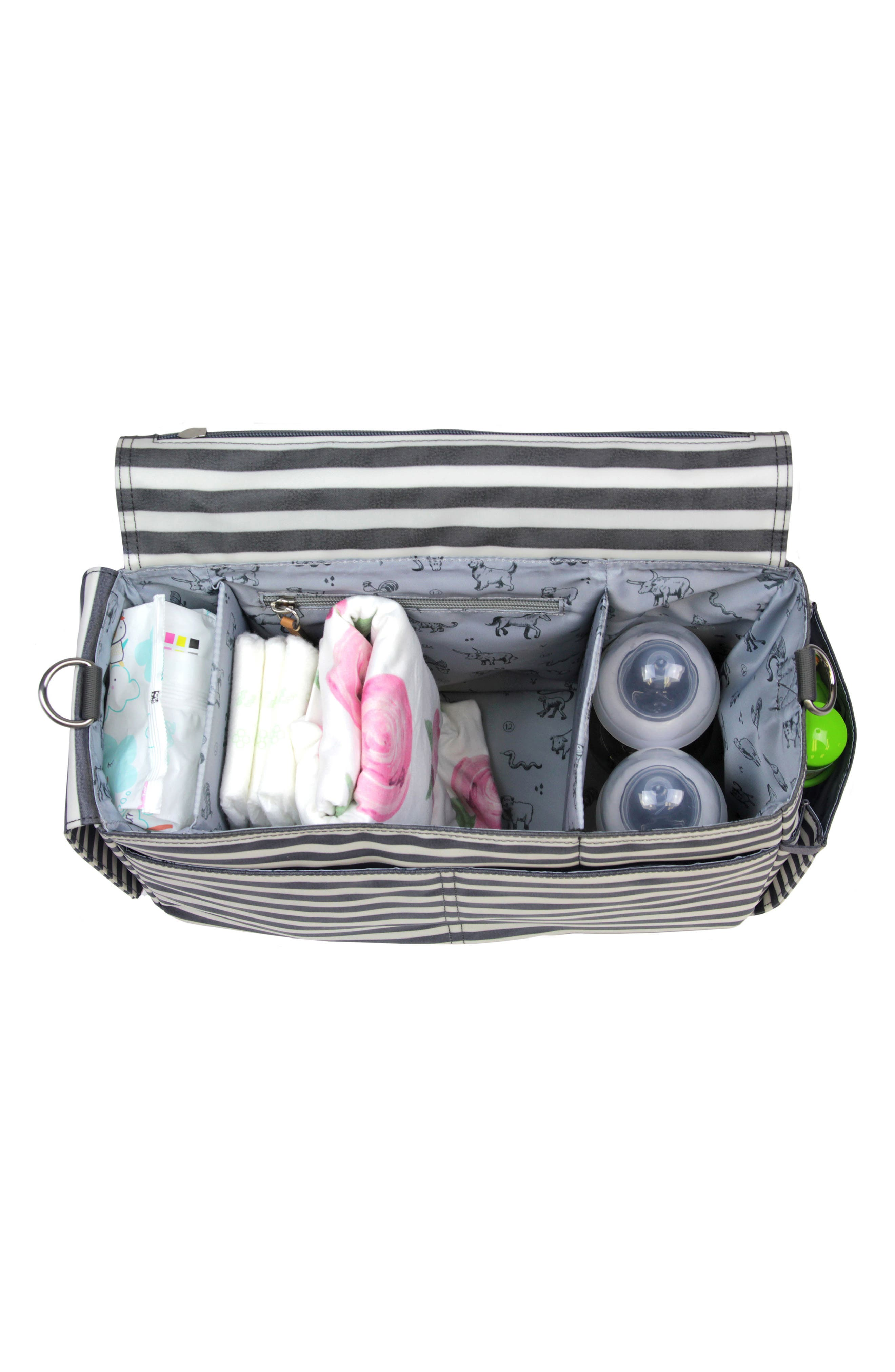 On-the-Go Water Resistant Stroller Caddy,                             Alternate thumbnail 2, color,                             Stripe