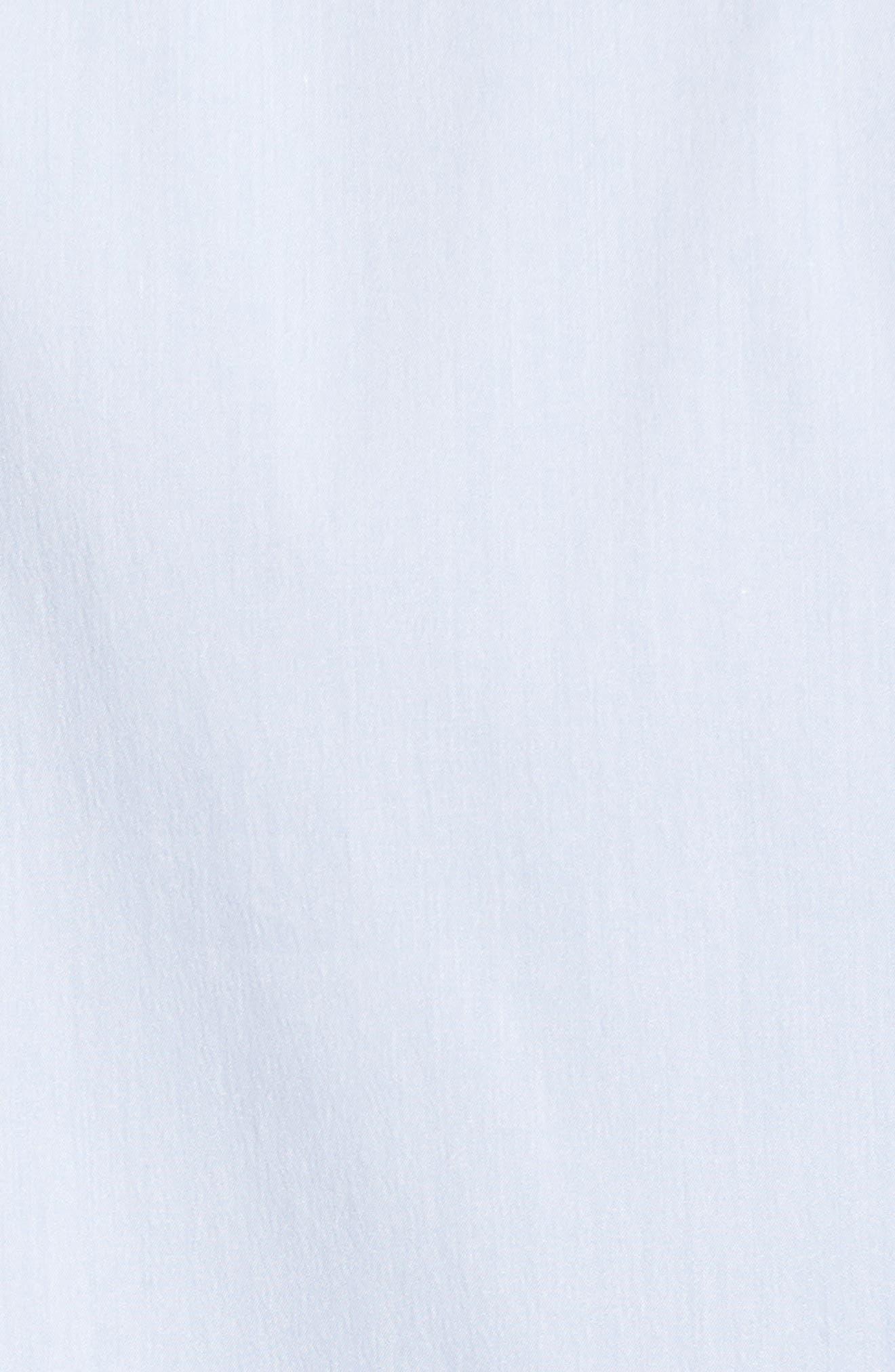 Matte Stretch Poplin Sport Shirt,                             Alternate thumbnail 5, color,                             Blue