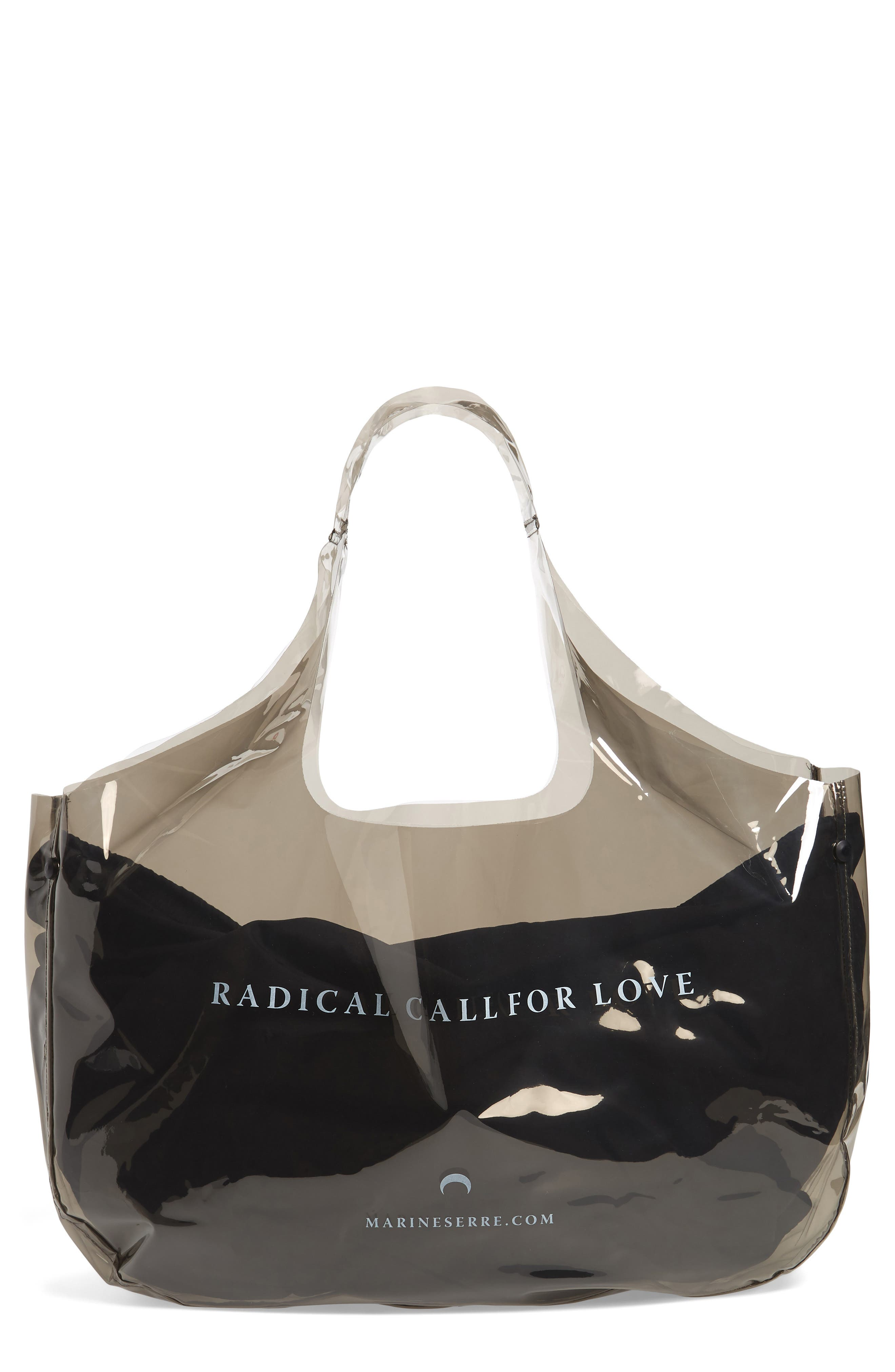 Marine Serre Radical Call for Love Transparent Shopping Bag