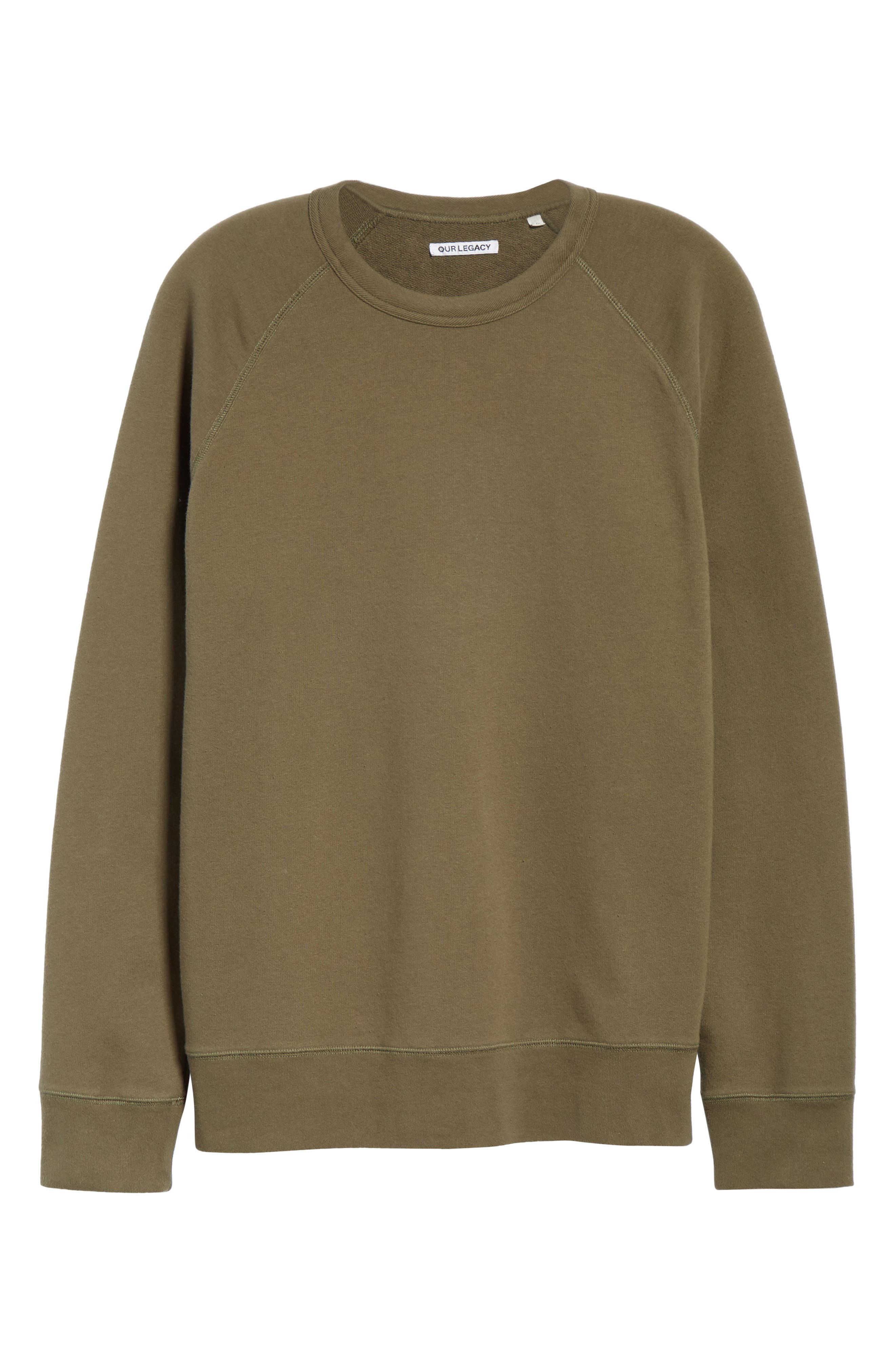 Core Crewneck Sweatshirt,                             Alternate thumbnail 6, color,                             Olive