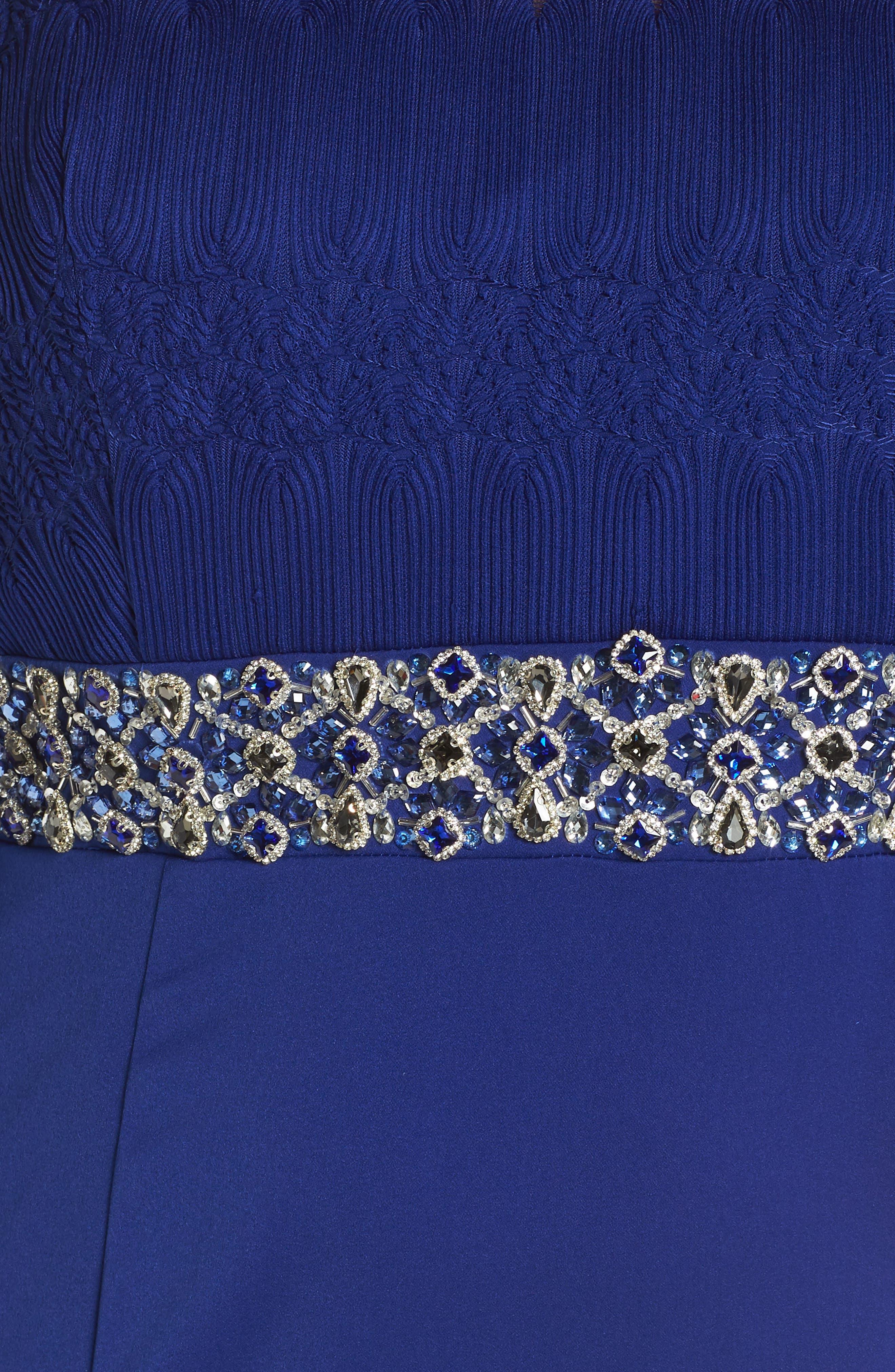 Embellished Gown,                             Alternate thumbnail 5, color,                             Royal