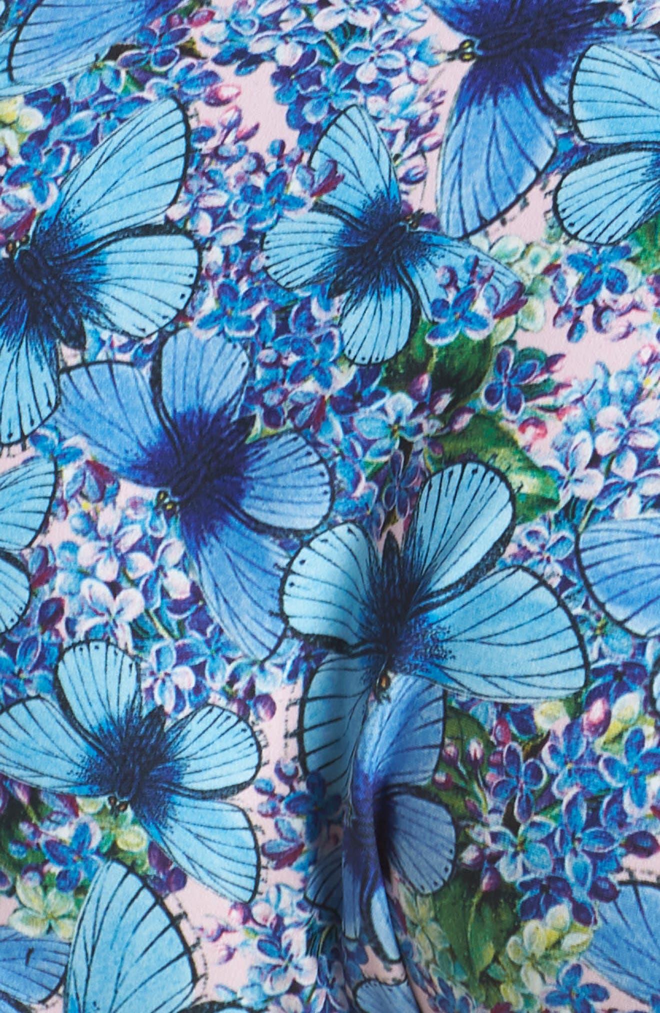Ruffle Bikini Bottoms,                             Alternate thumbnail 5, color,                             Butterfly