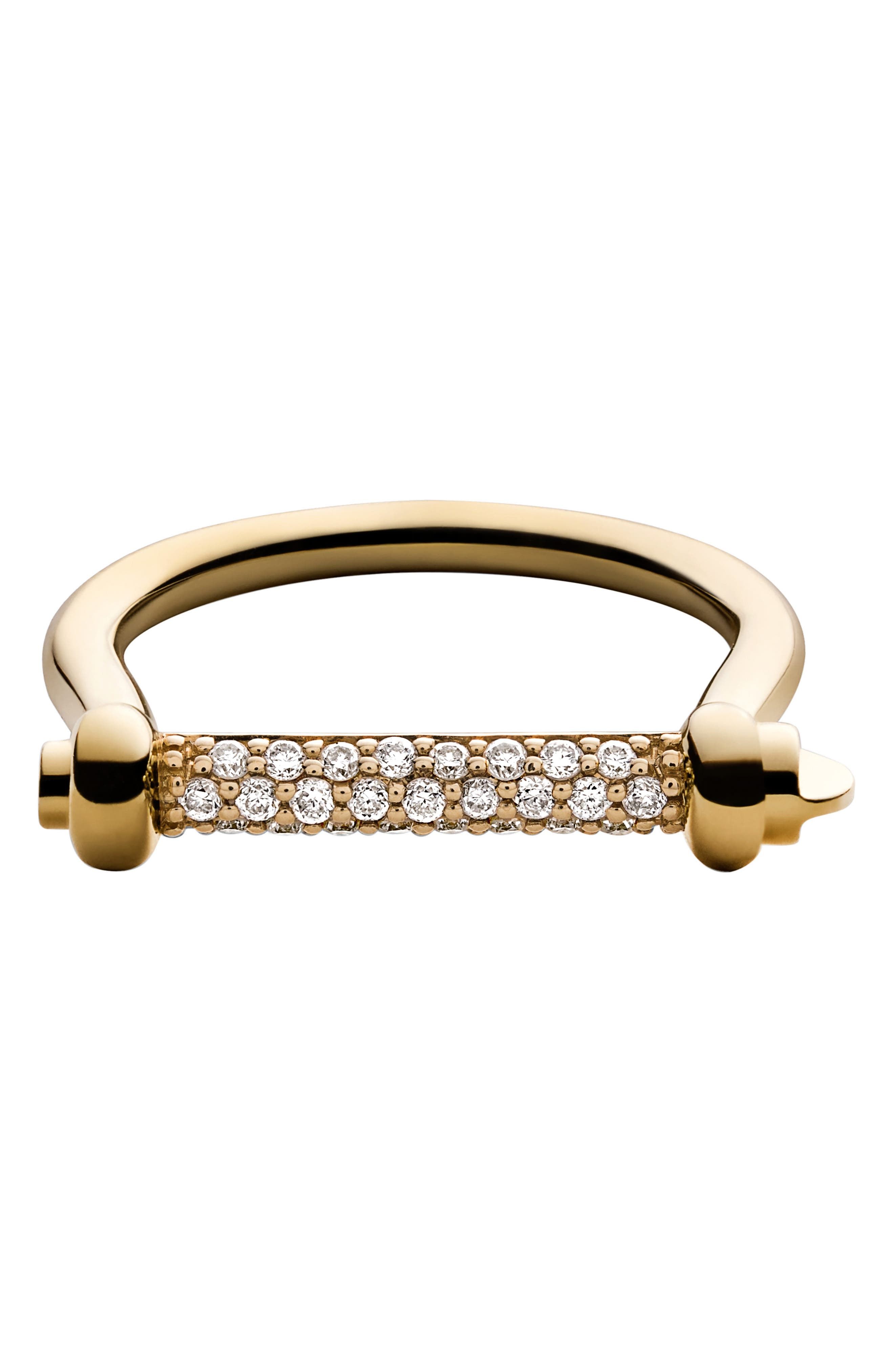 Miansai White Sapphire Thin Screw Cuff Ring