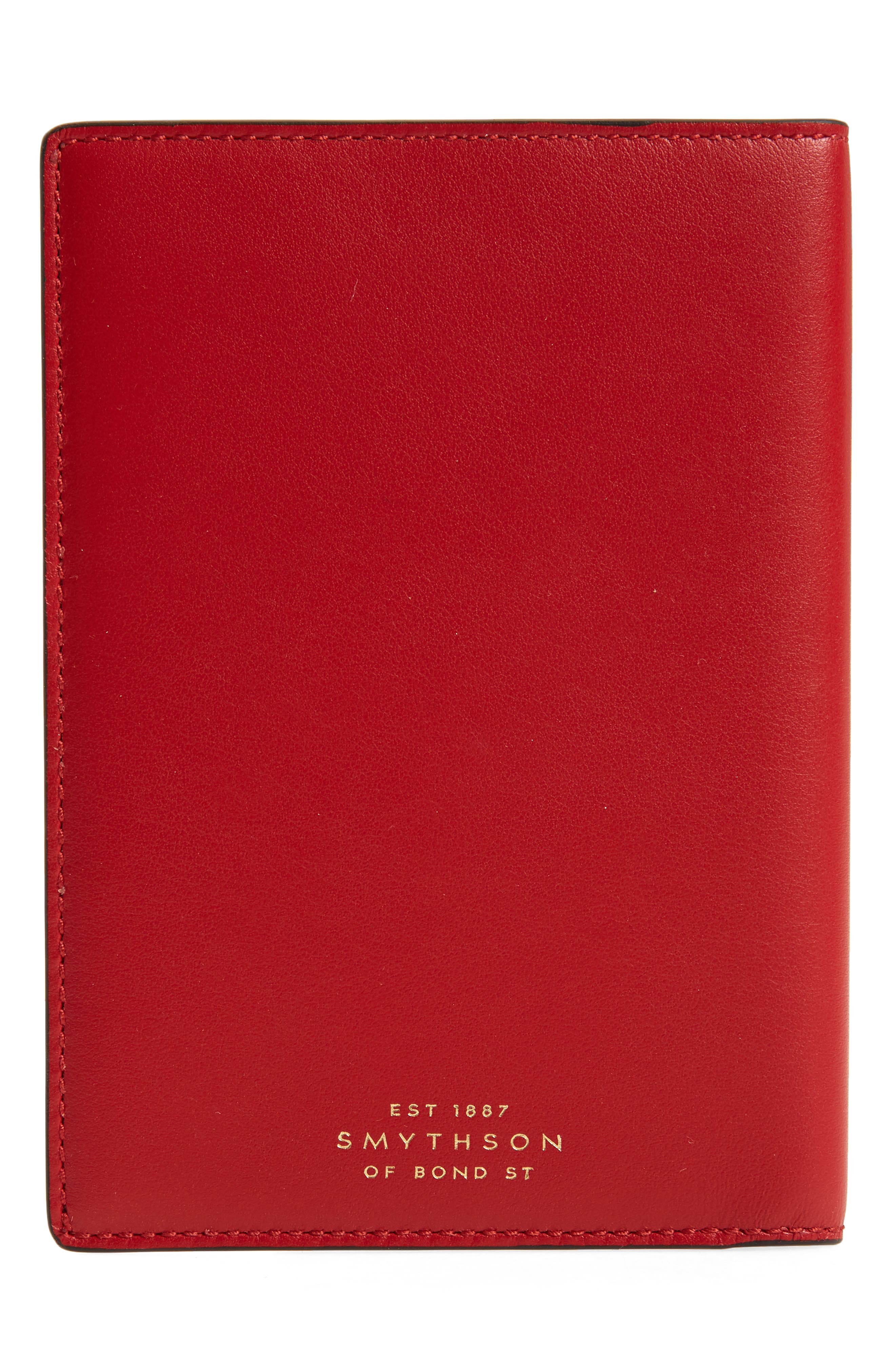 Hero Leather Passport Cover,                             Alternate thumbnail 4, color,                             Red