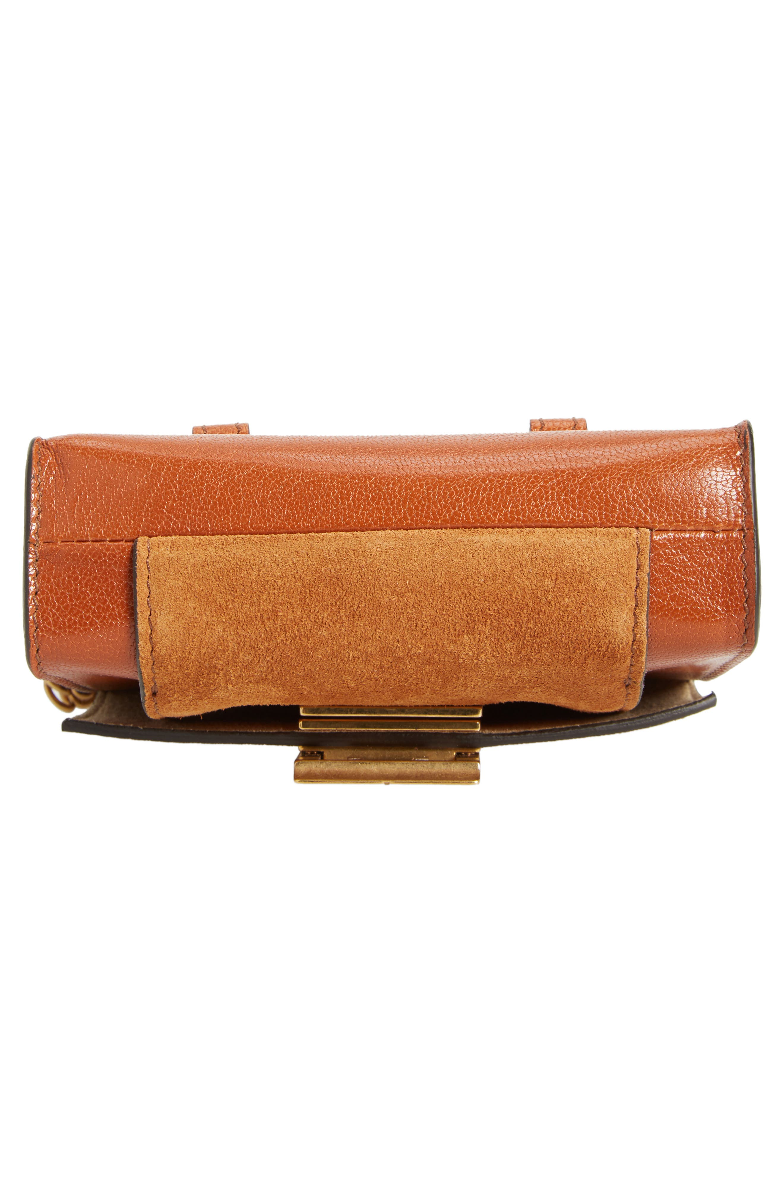 Givency Nano GV3 Leather & Suede Crossbody Bag,                             Alternate thumbnail 6, color,                             Chestnut