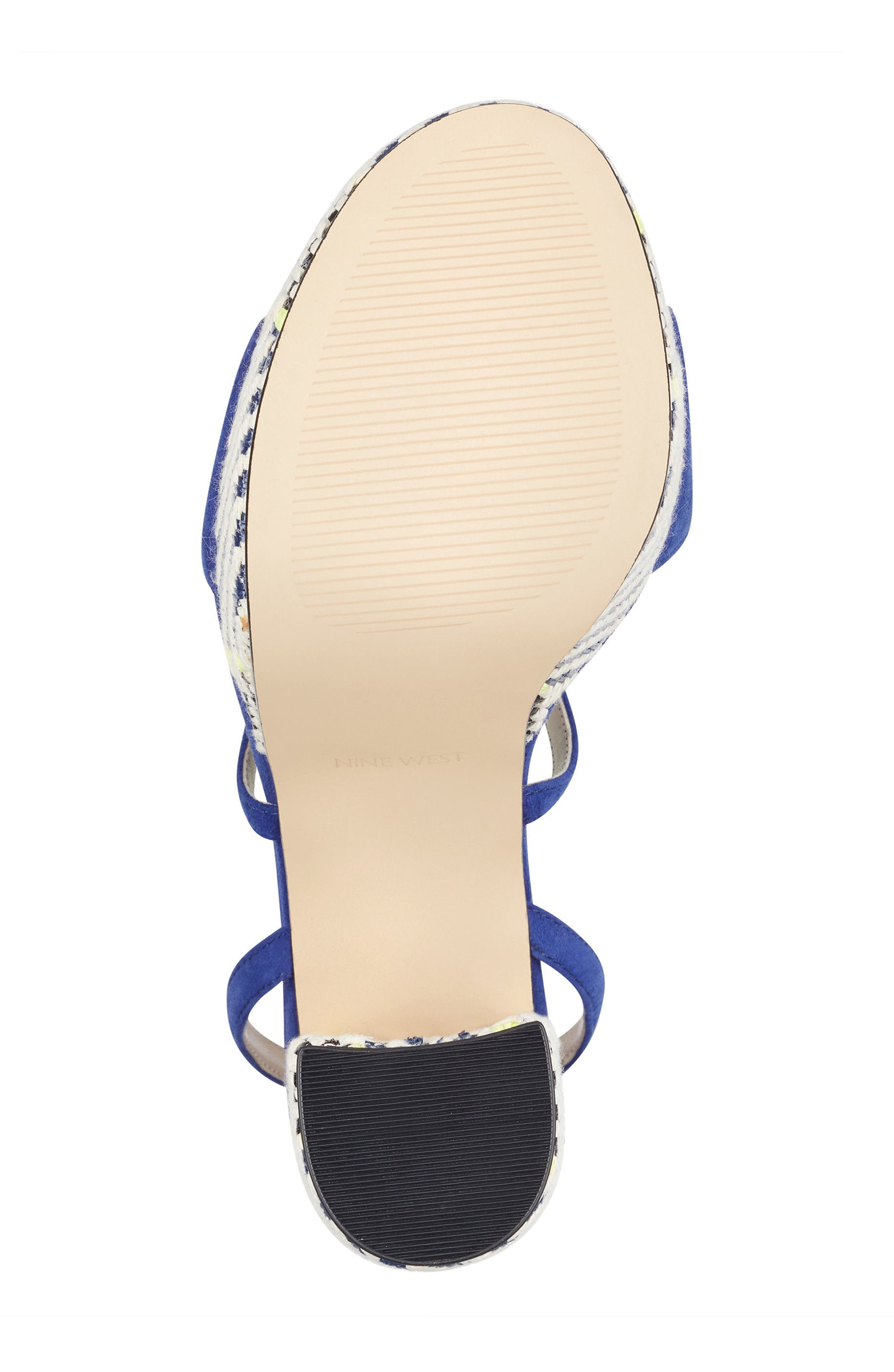 Markando Platform Sandal,                             Alternate thumbnail 6, color,                             Dark Blue Suede