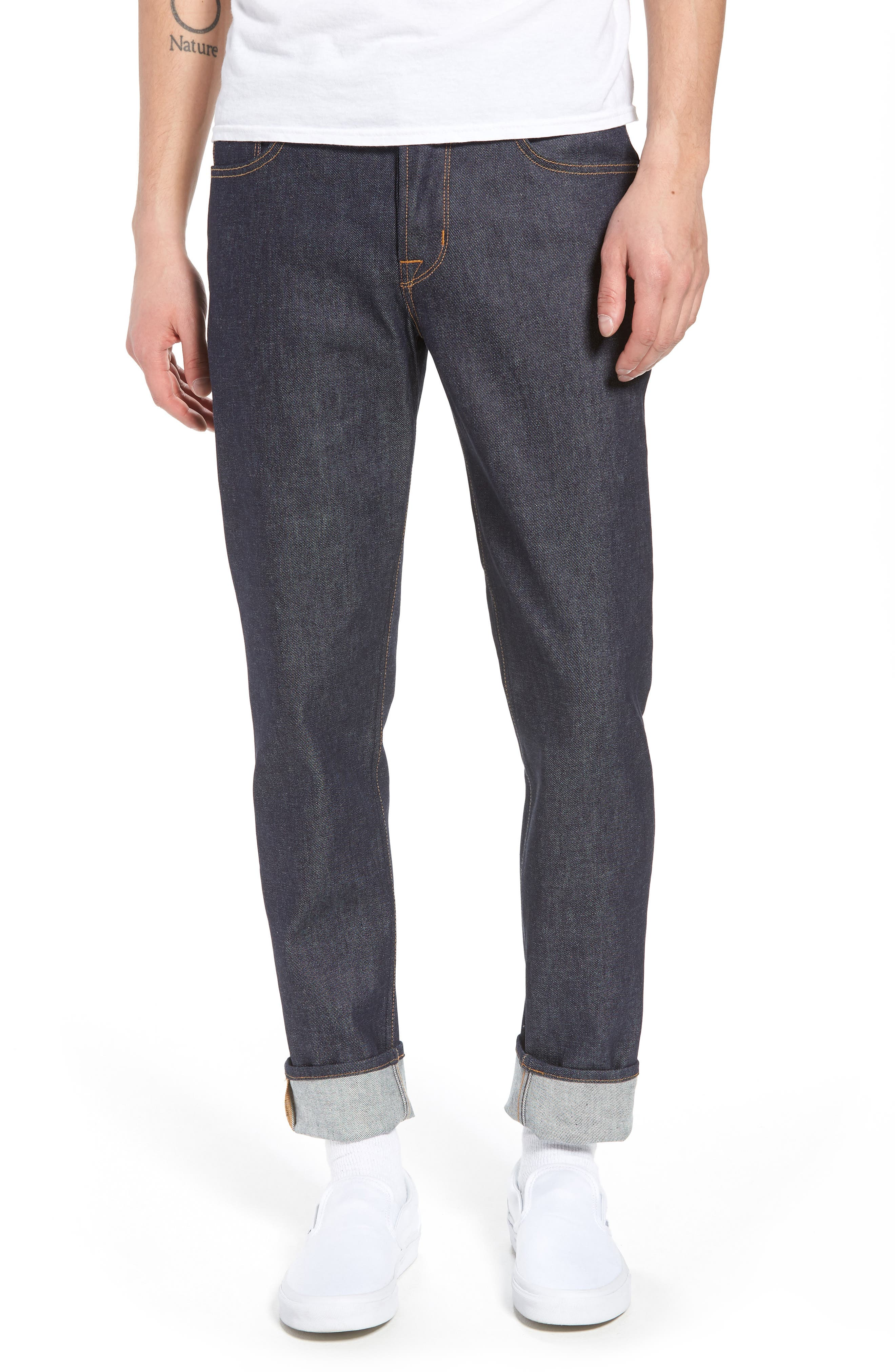 Alternate Image 1 Selected - Hudson Jeans Sartor Skinny Fit Jeans (Raw)