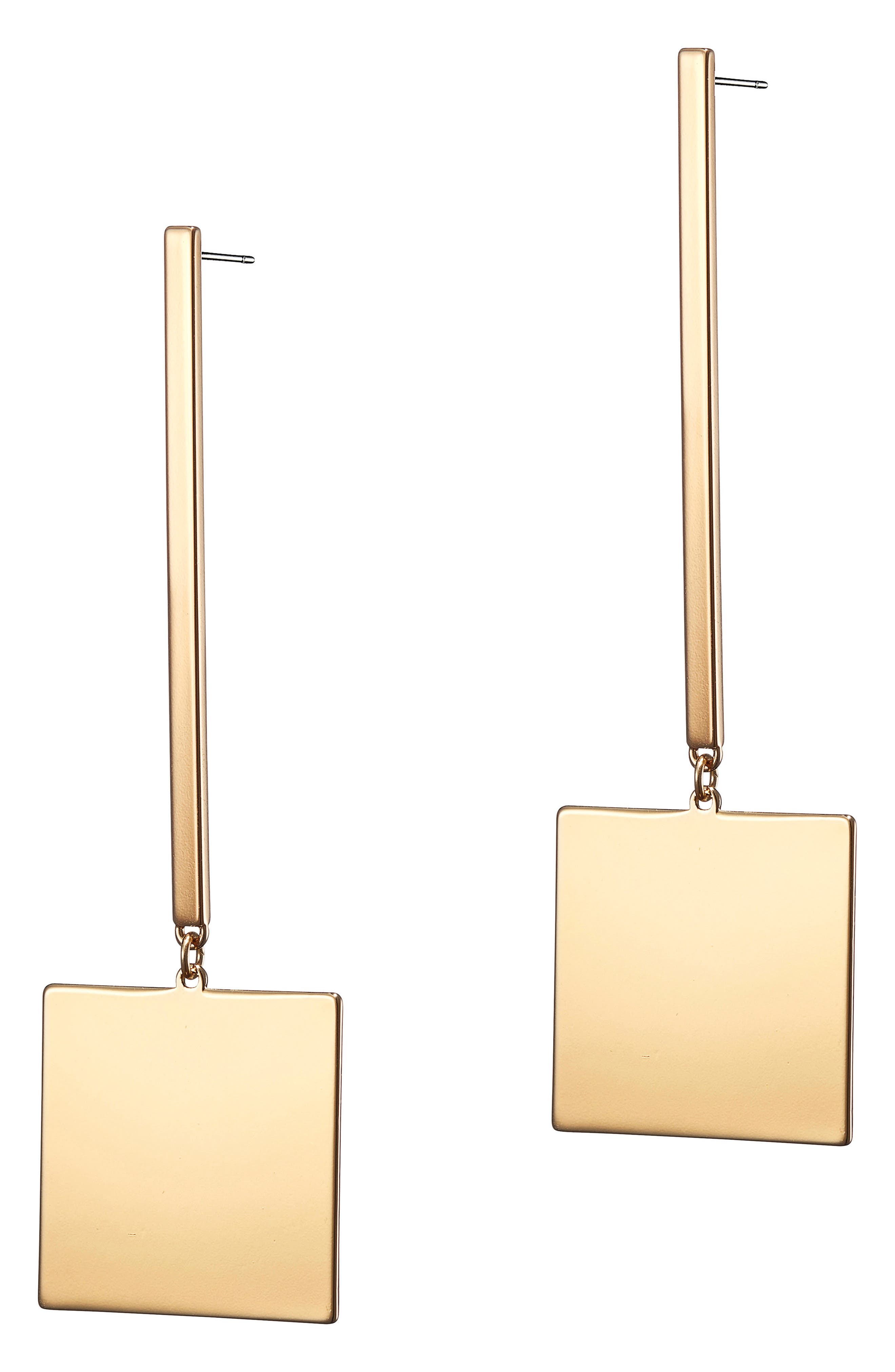 Harbour Square Drop Earrings,                         Main,                         color, Gold