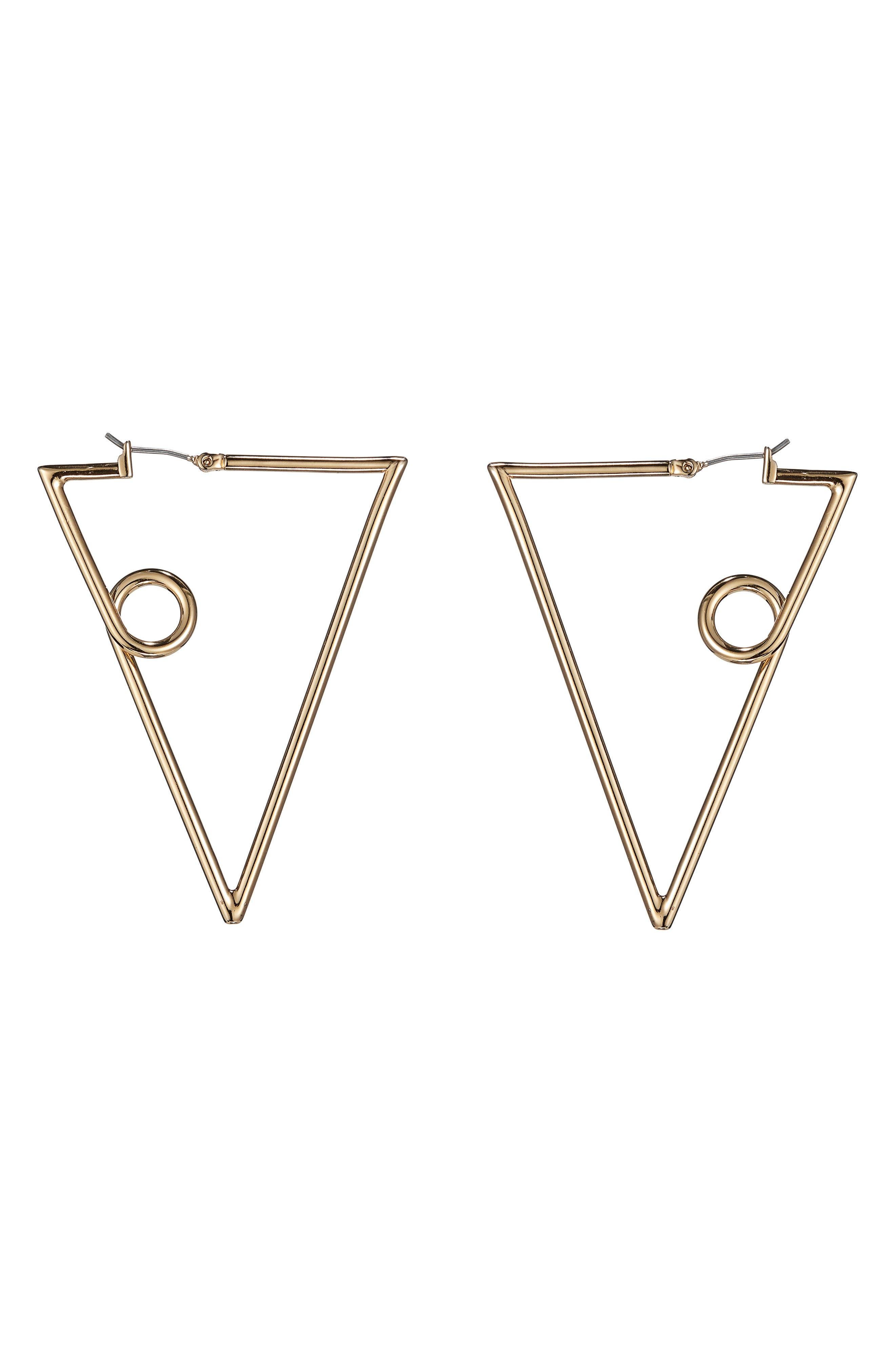 The Verse Earrings,                             Main thumbnail 1, color,                             High Polish Gold