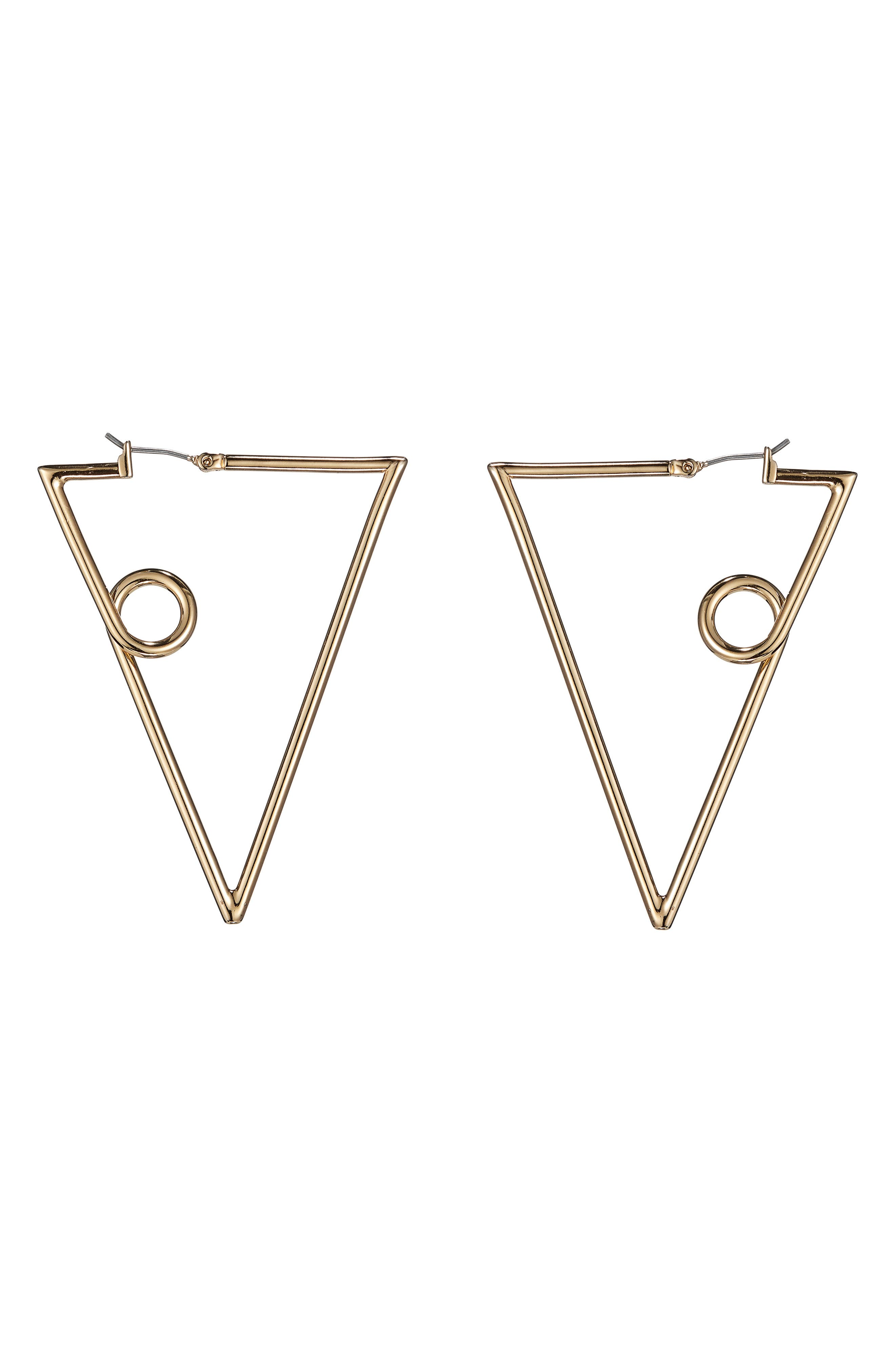 The Verse Earrings,                         Main,                         color, High Polish Gold
