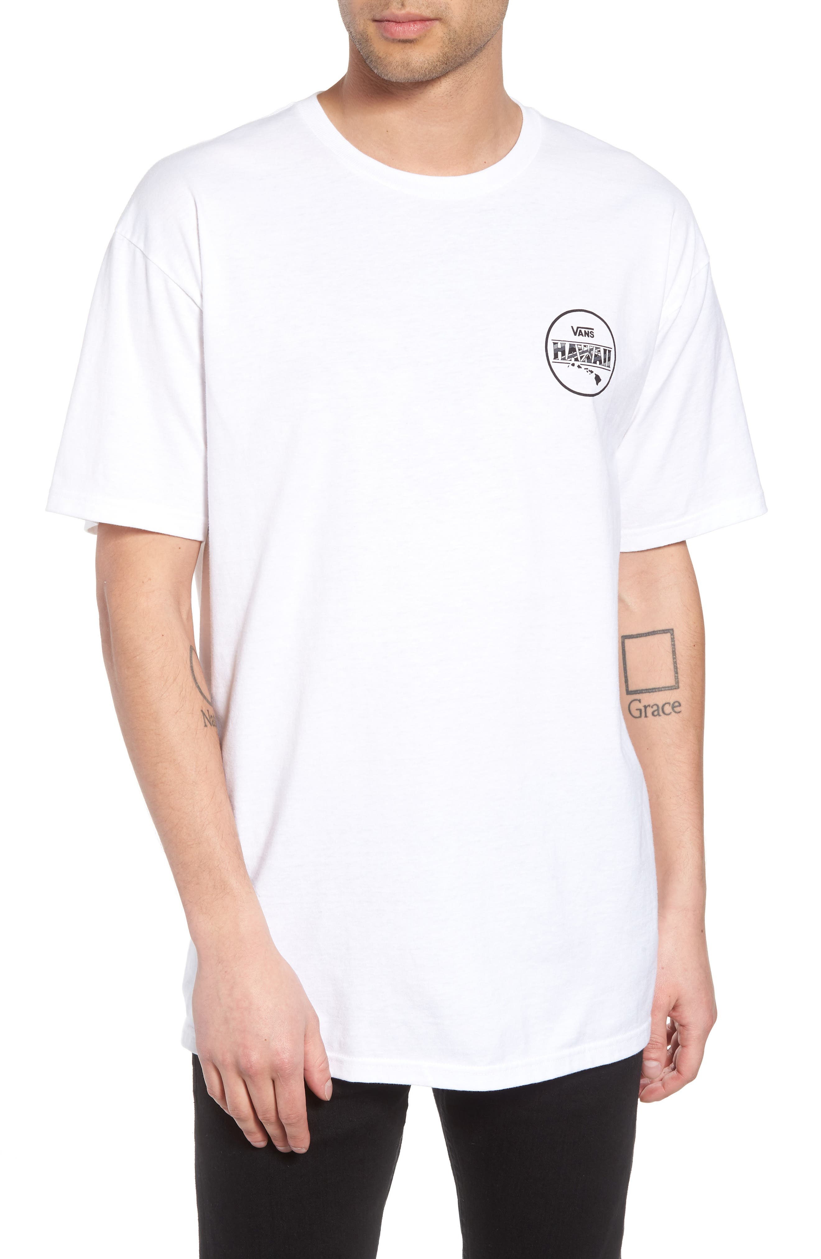 Makai Fill II T-Shirt,                         Main,                         color, White/ Hi Flyin
