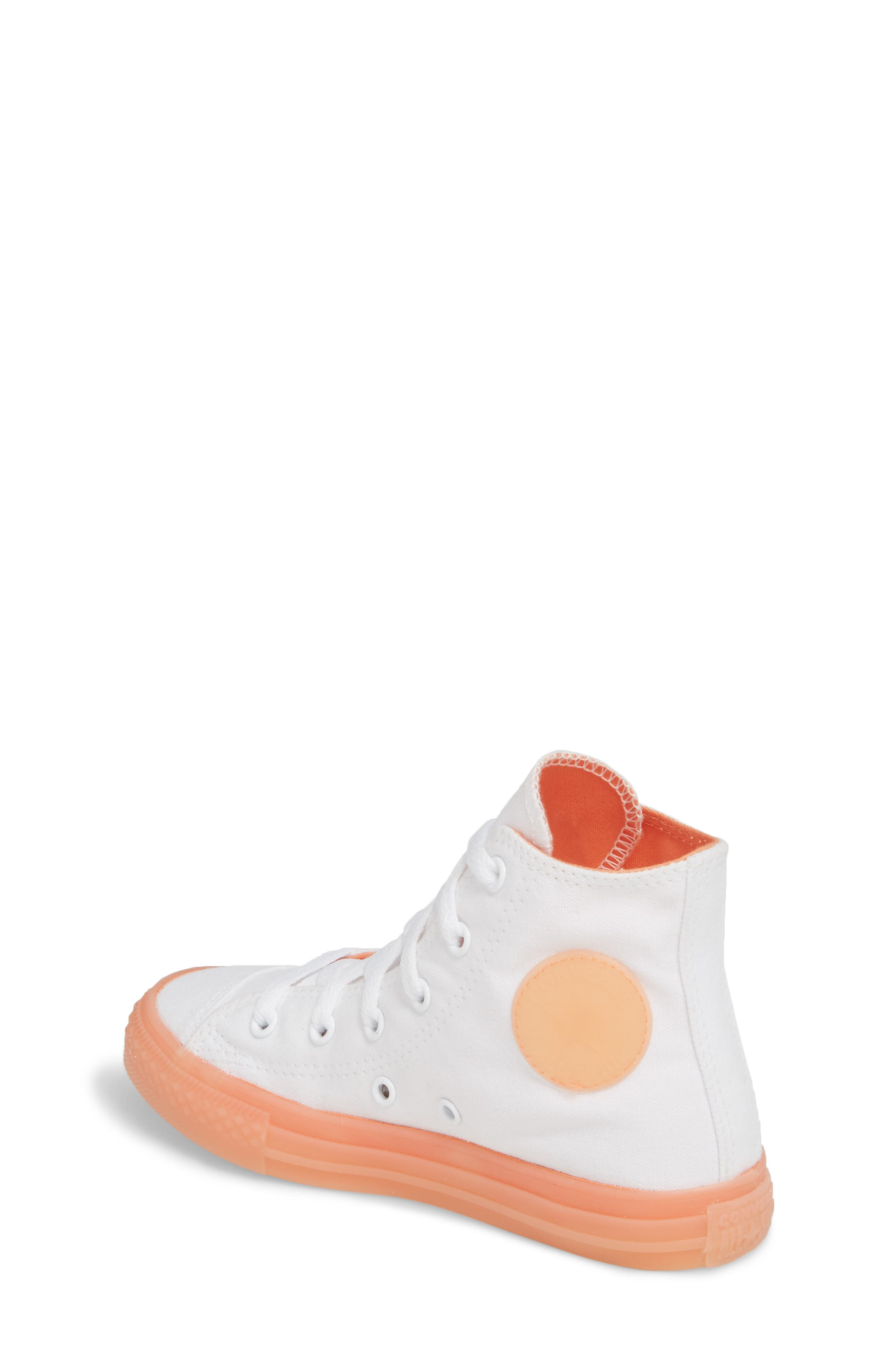 Chuck Taylor<sup>®</sup> All Star<sup>®</sup> Jelly High Top Sneaker,                             Alternate thumbnail 2, color,                             Orange