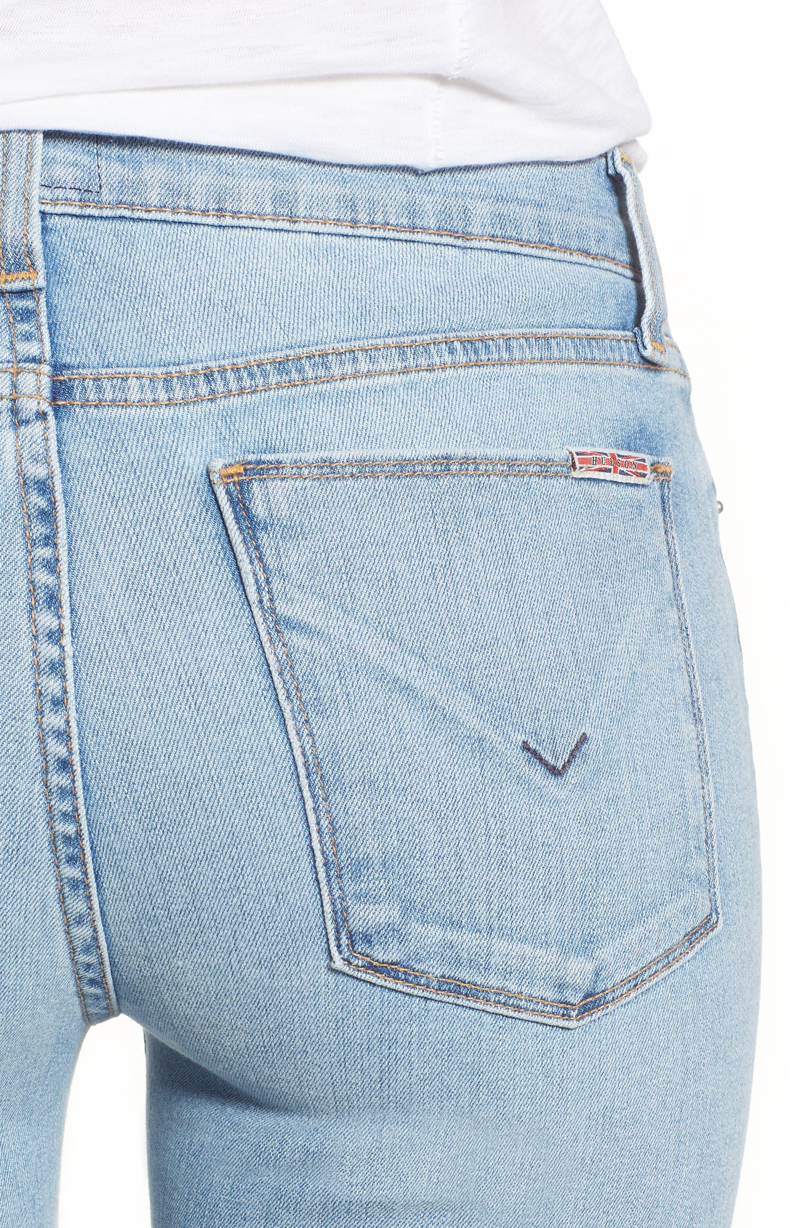 Tally Cuffed Crop Skinny Jeans,                             Alternate thumbnail 4, color,                             Gemini